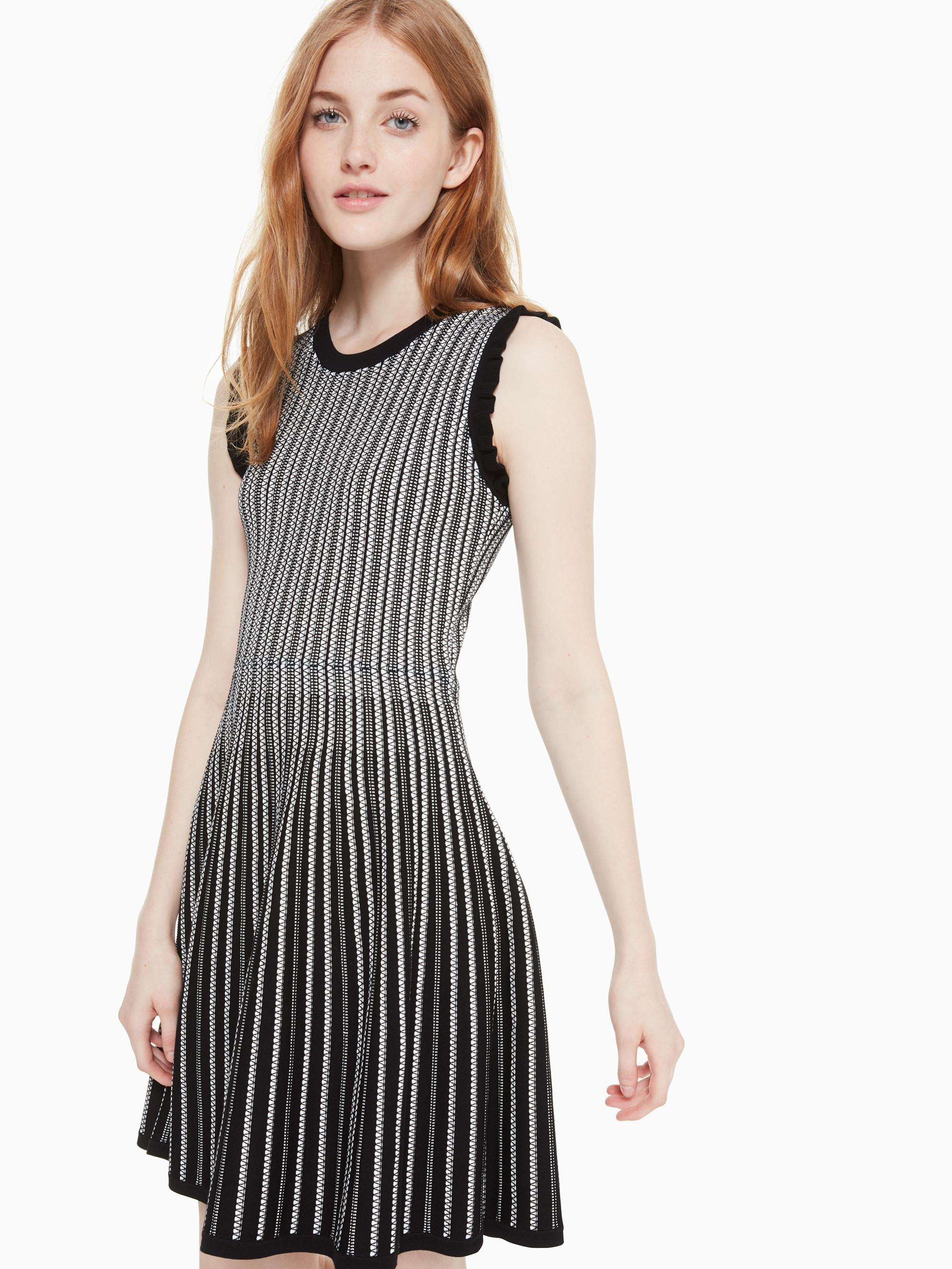 8f8b0997192 Kate Spade Textured Sweater Dress in Black - Lyst