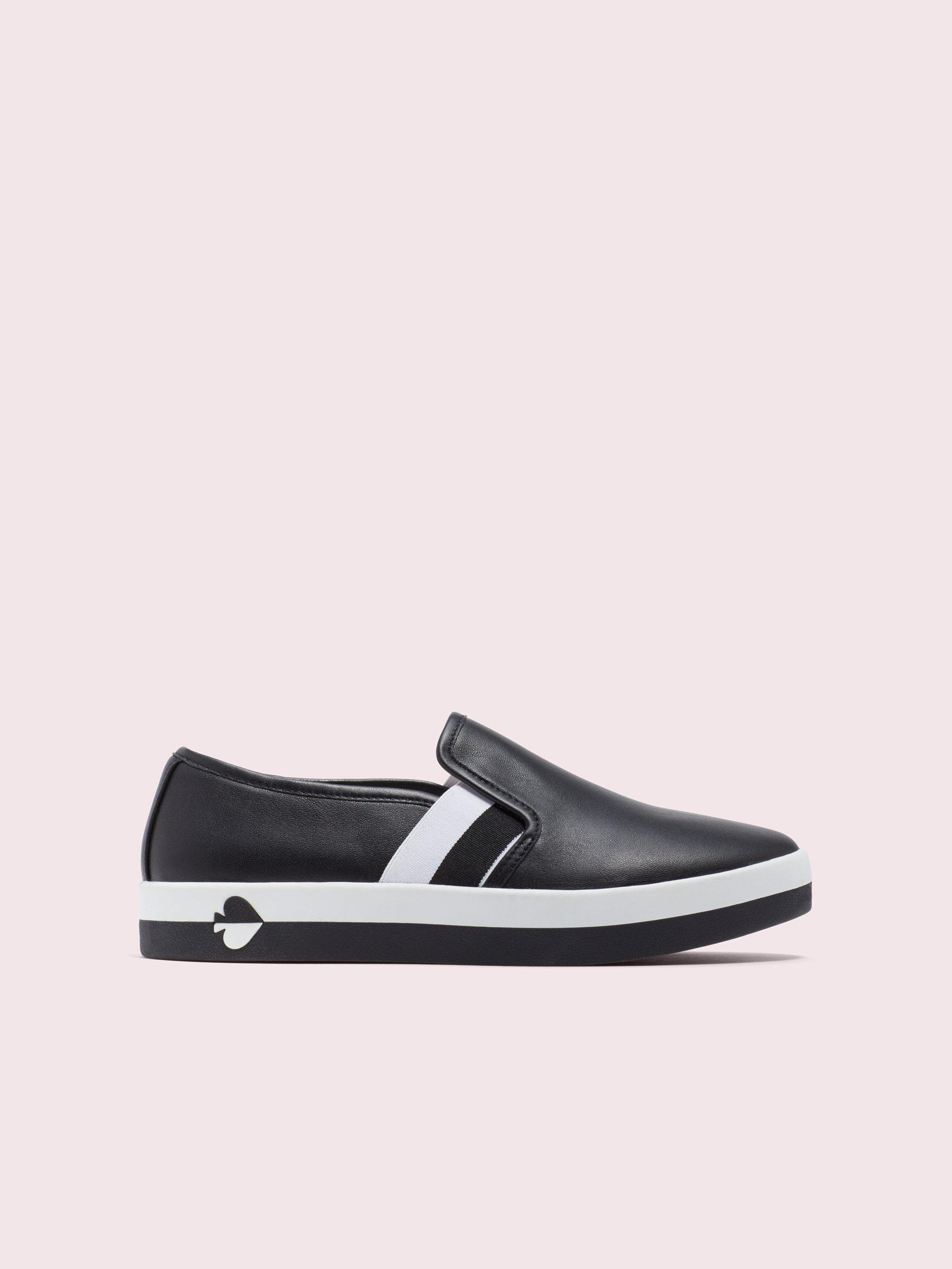 Kate Spade Leather Sandy Sneakers in
