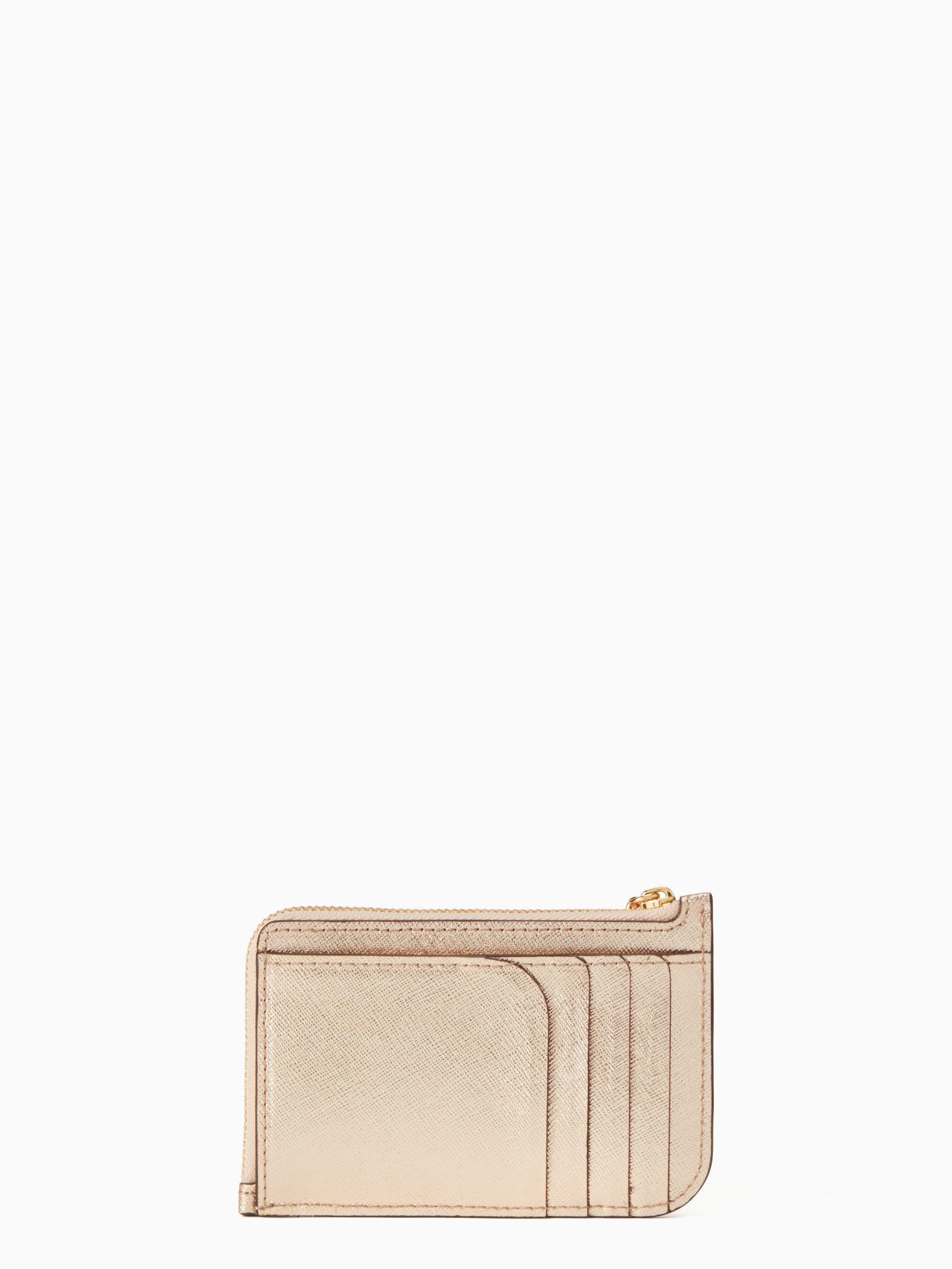 Kate Spade Leather Cameron Medium L-zip Card Holder - Lyst