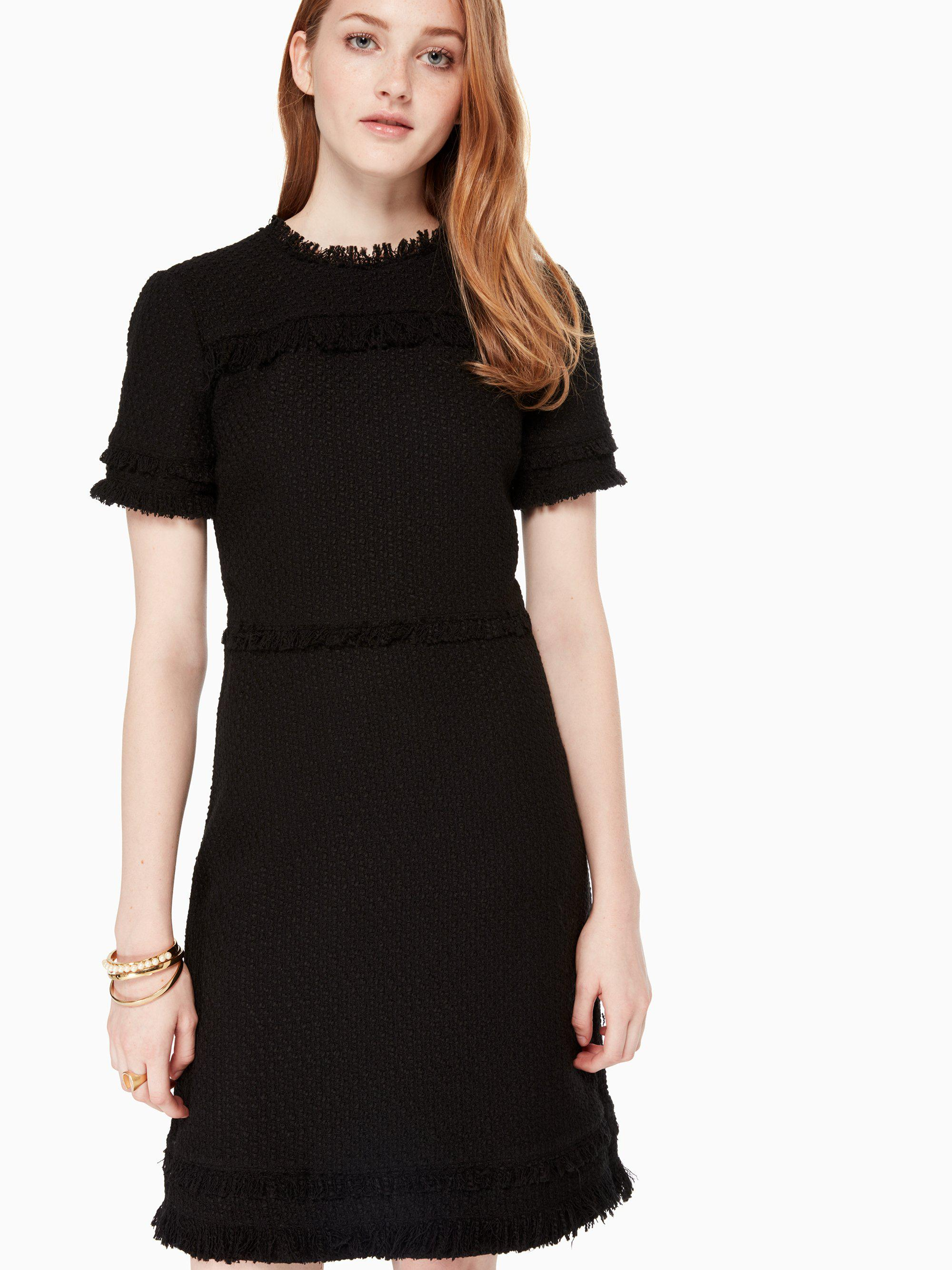 e4ef2fc1fdc6e Kate Spade Western Tweed Dress in Black - Save 30% - Lyst