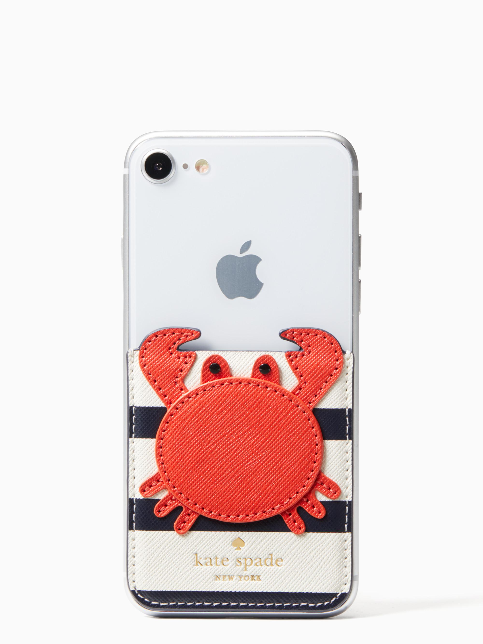 hot sales ed5f1 1fe87 Kate Spade Red Crab Sticker Pocket