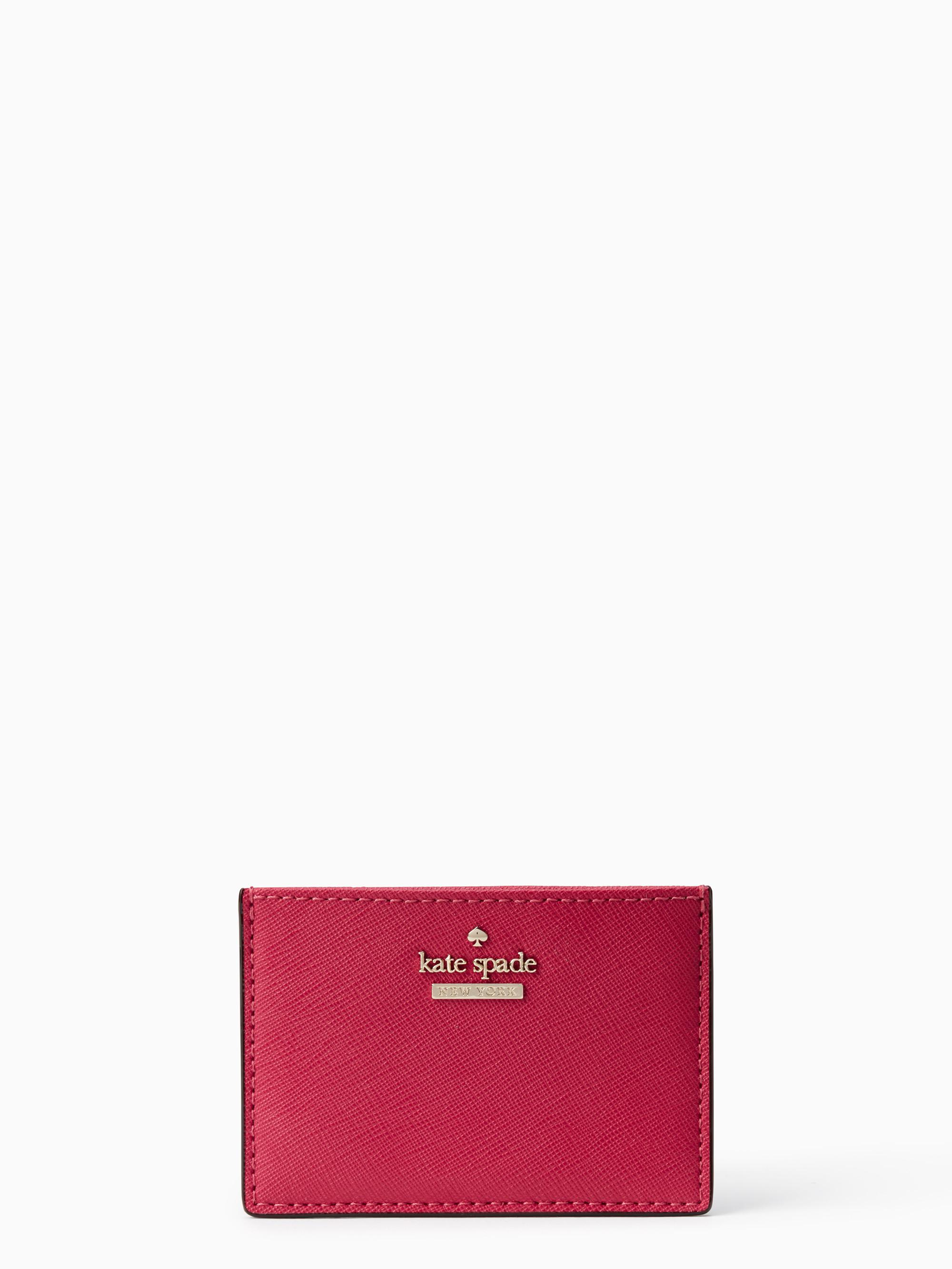Kate spade Cameron Street Card Holder in Red