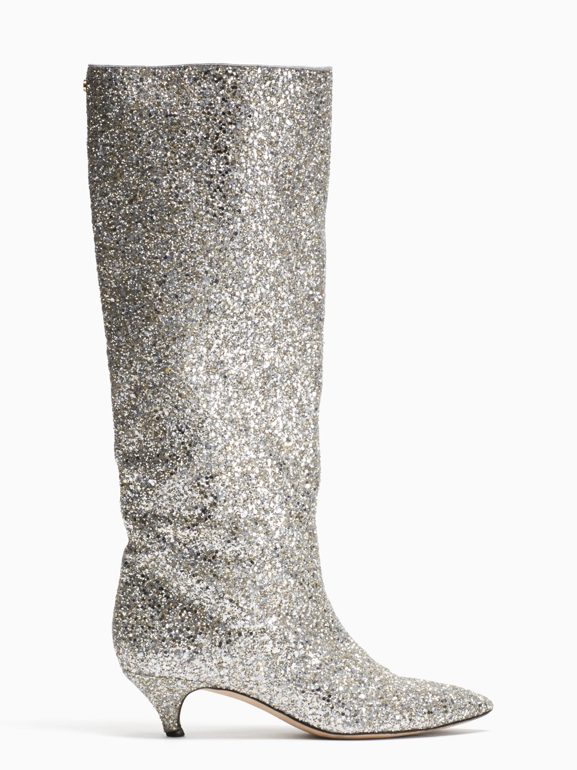 d54e8c5ac Kate Spade Olina Boots in Metallic - Lyst