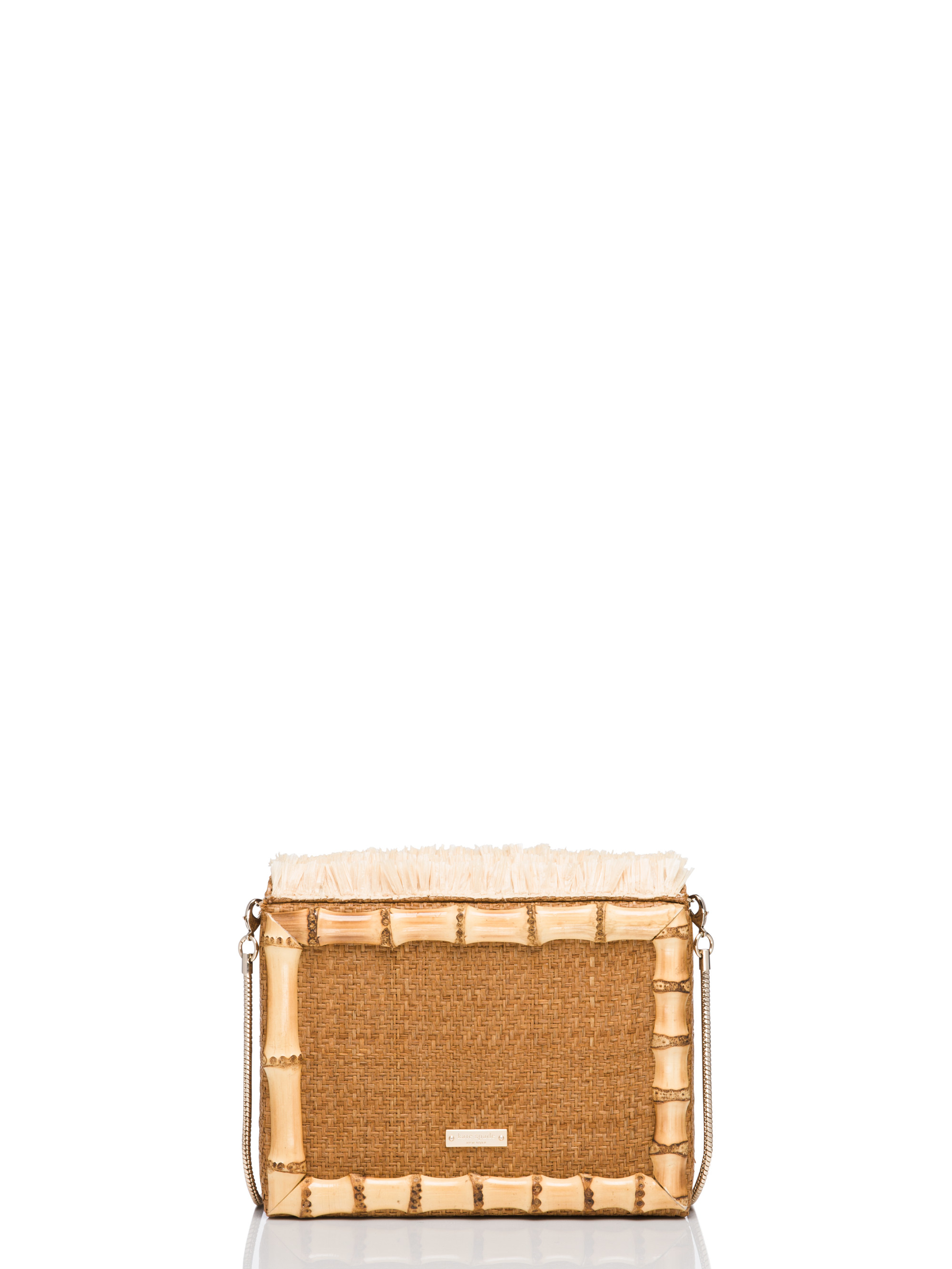 Kate Spade Leather Crossbody Cobble Hill Straw Little Curtis in Natural