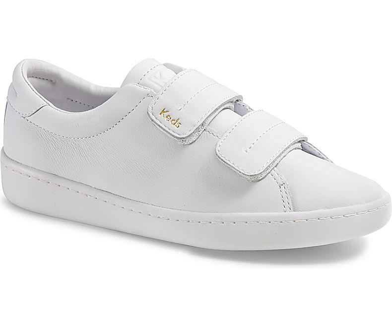Keds Ace V Leather in White - Lyst
