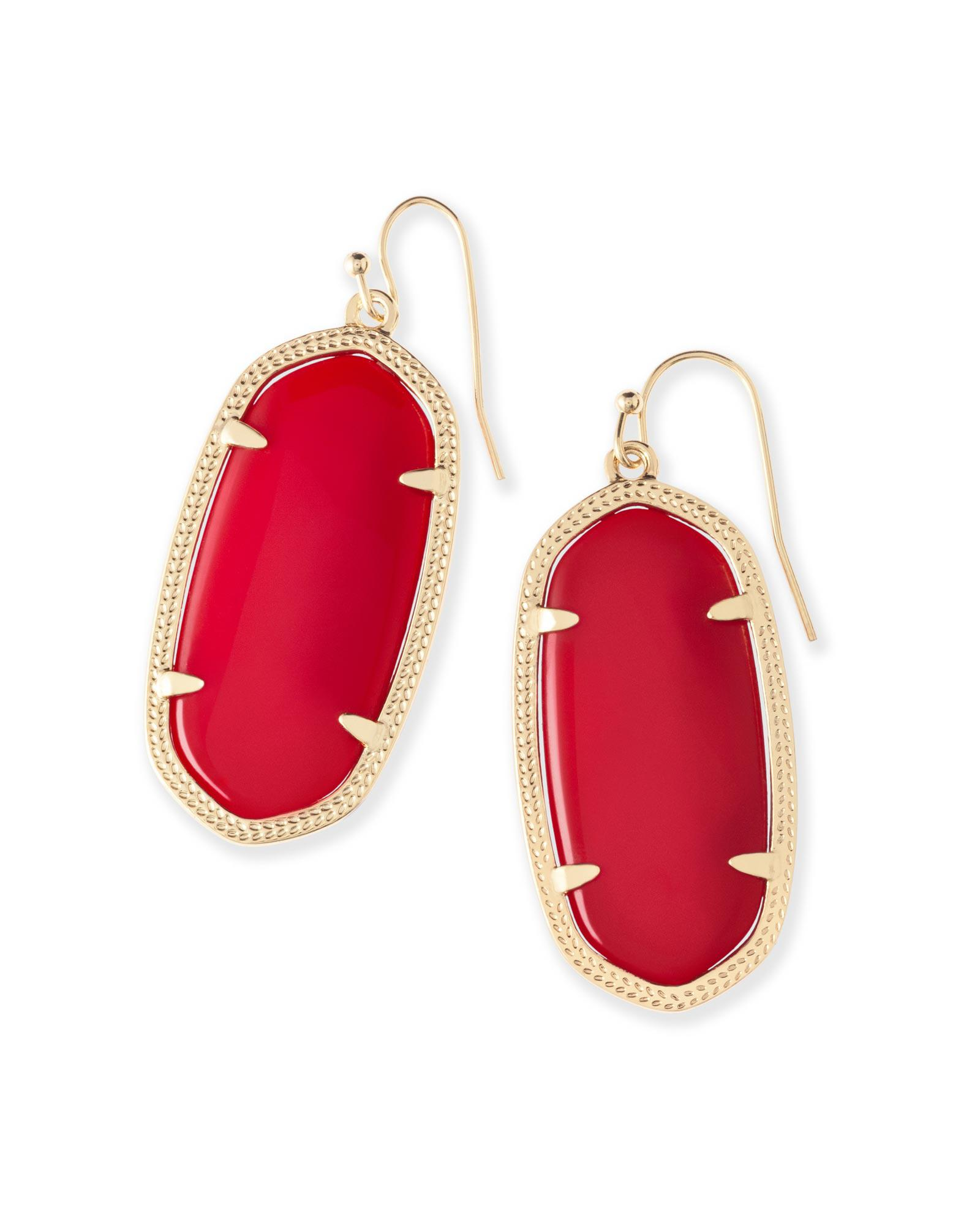 b46cf4475 Lyst - Kendra Scott Elle Earrings In Bright Red in Red