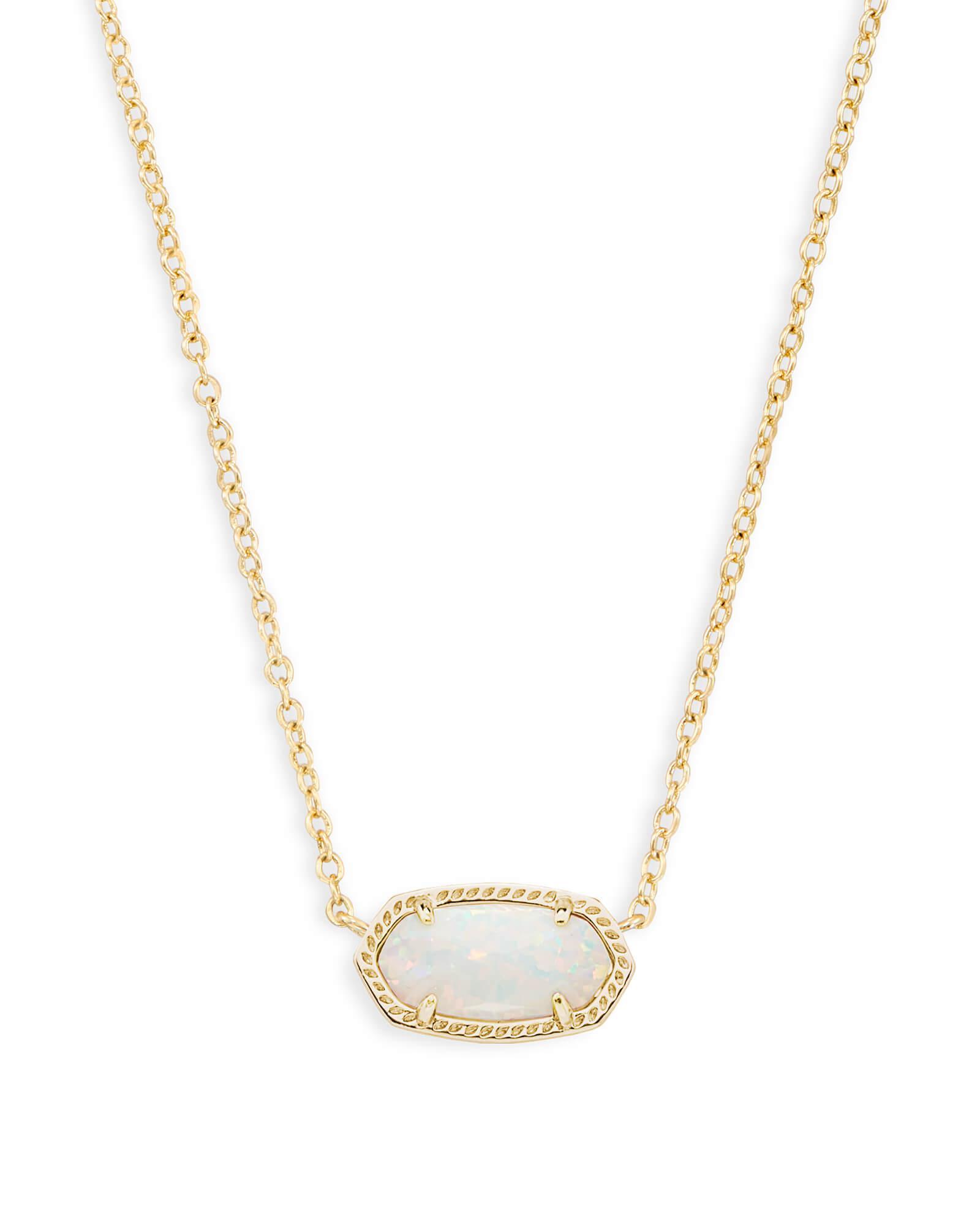 e736cad14b7 Kendra Scott Multicolor Elisa Gold Pendant Necklace In White Kyocera Opal