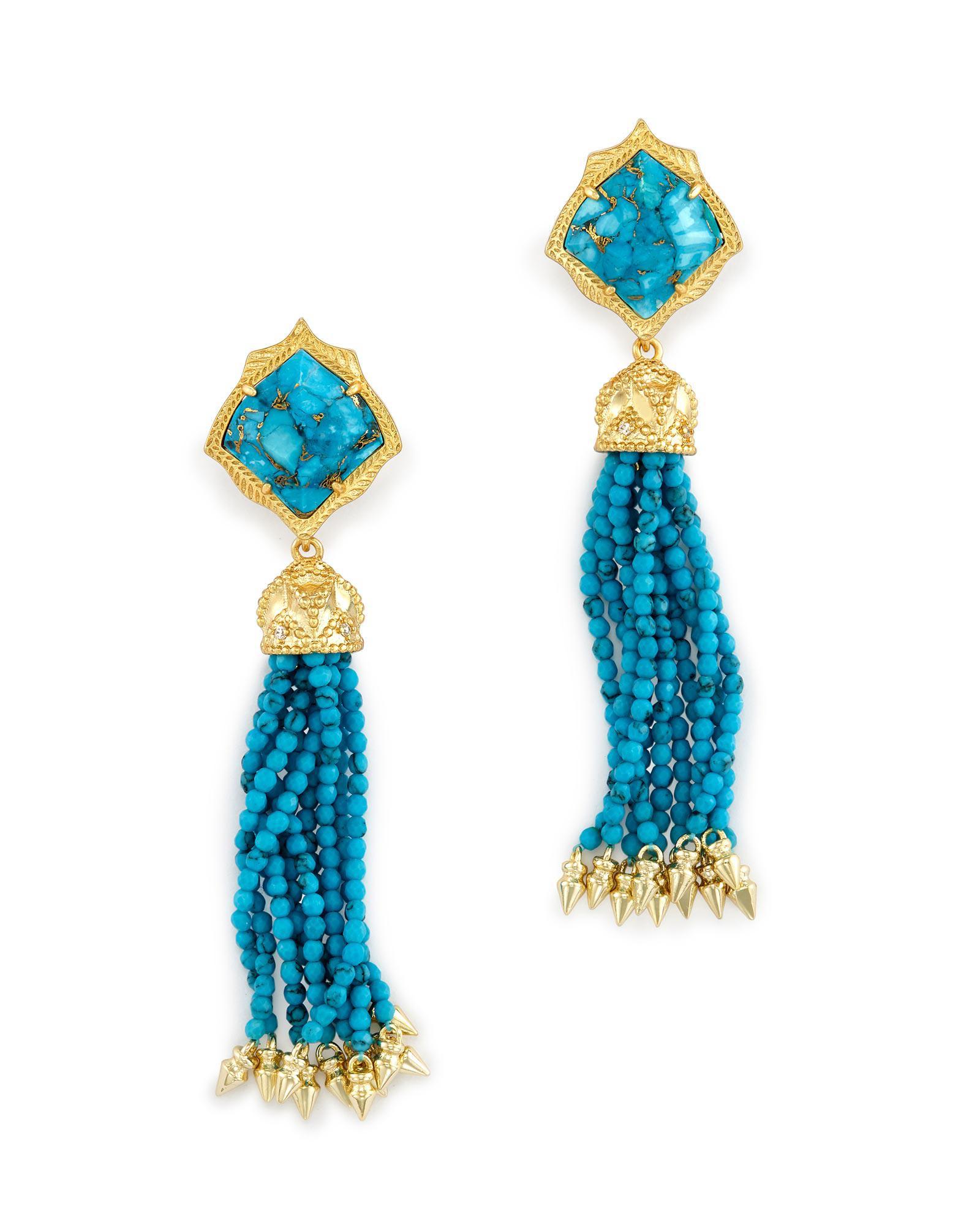 5bcdad17a3b27 Lyst - Kendra Scott Misha Statement Earrings in Blue