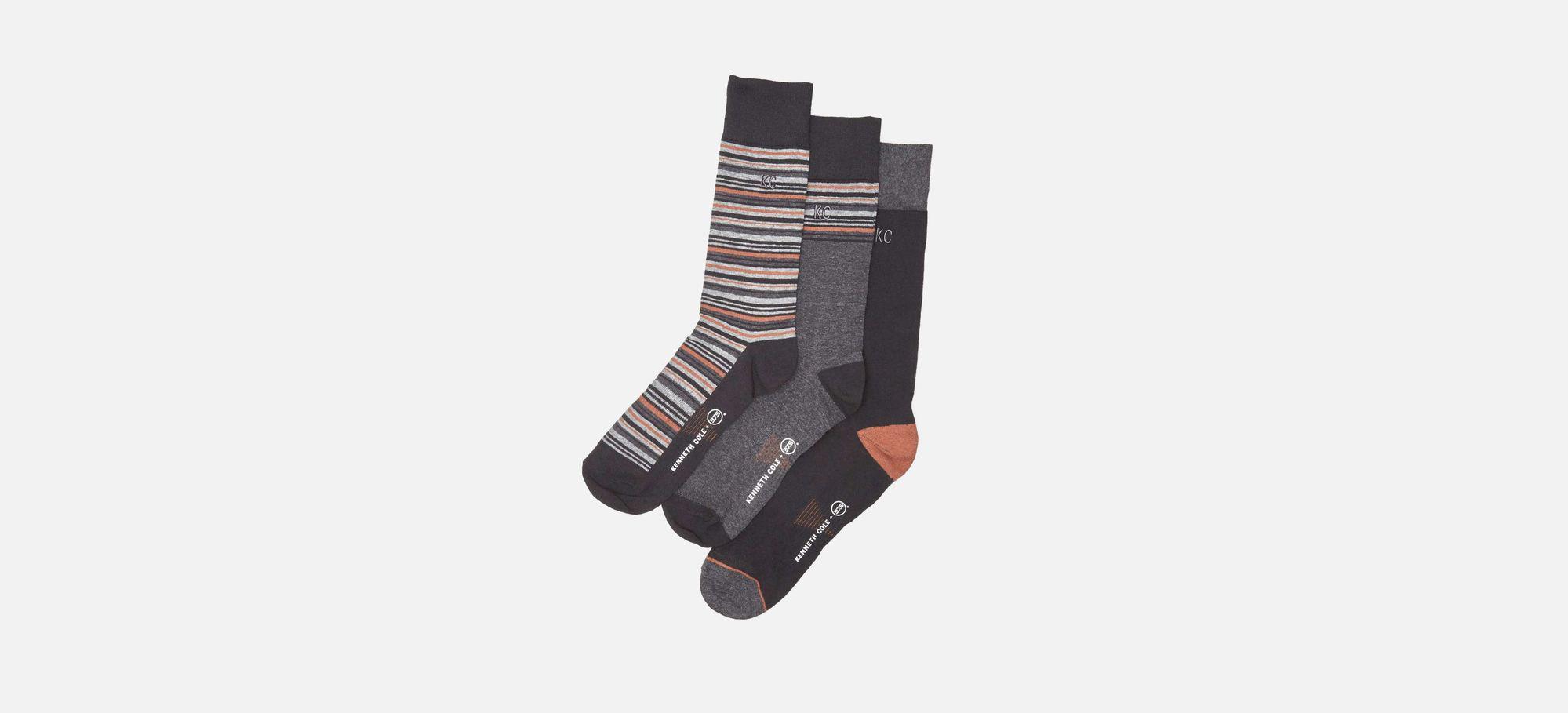 1644d6c03f Kenneth Cole - Multicolor Three-pack Ken-etic Kolour Socks for Men - Lyst.  View fullscreen