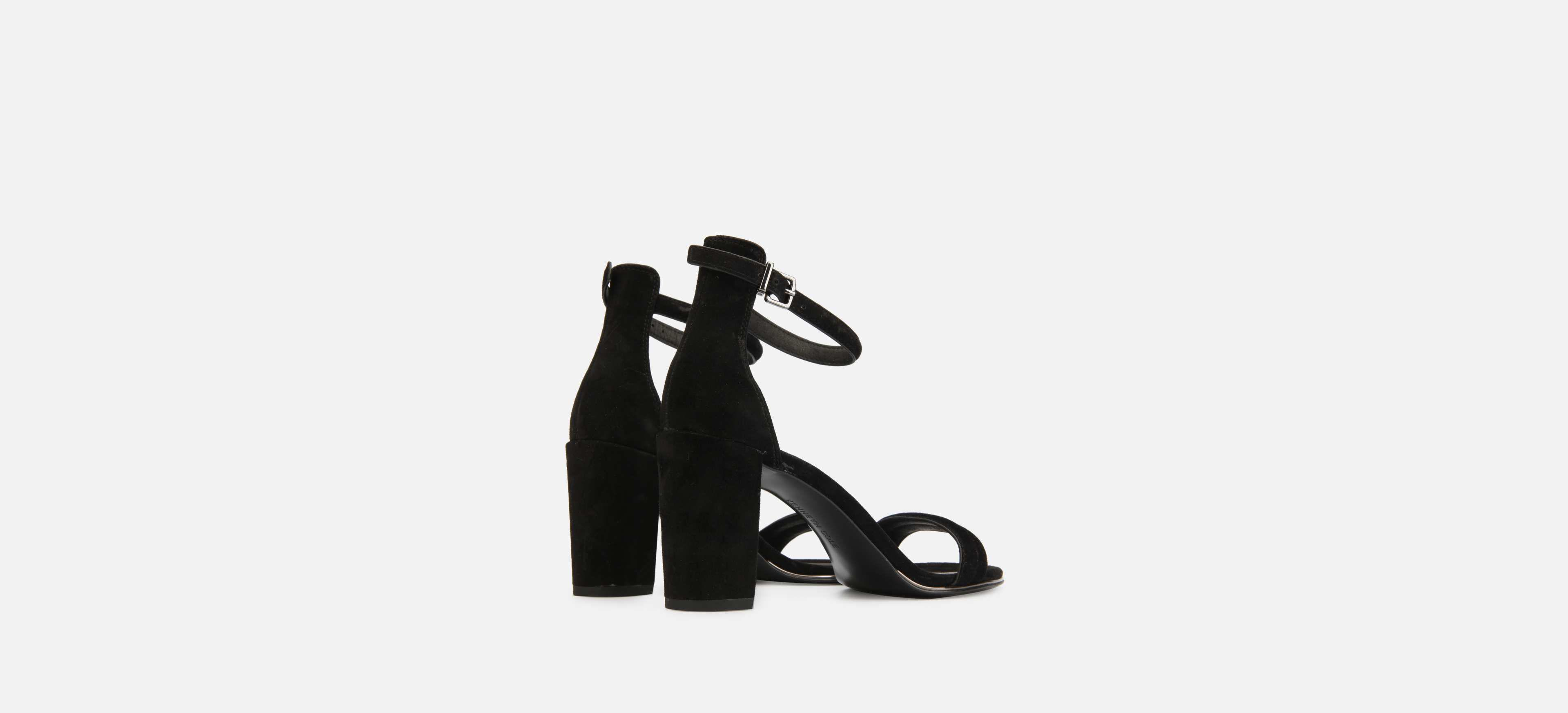 46a61cbaf68 Kenneth Cole - Black Lex Suede Ankle Strap Sandal Heel - Lyst. View  fullscreen