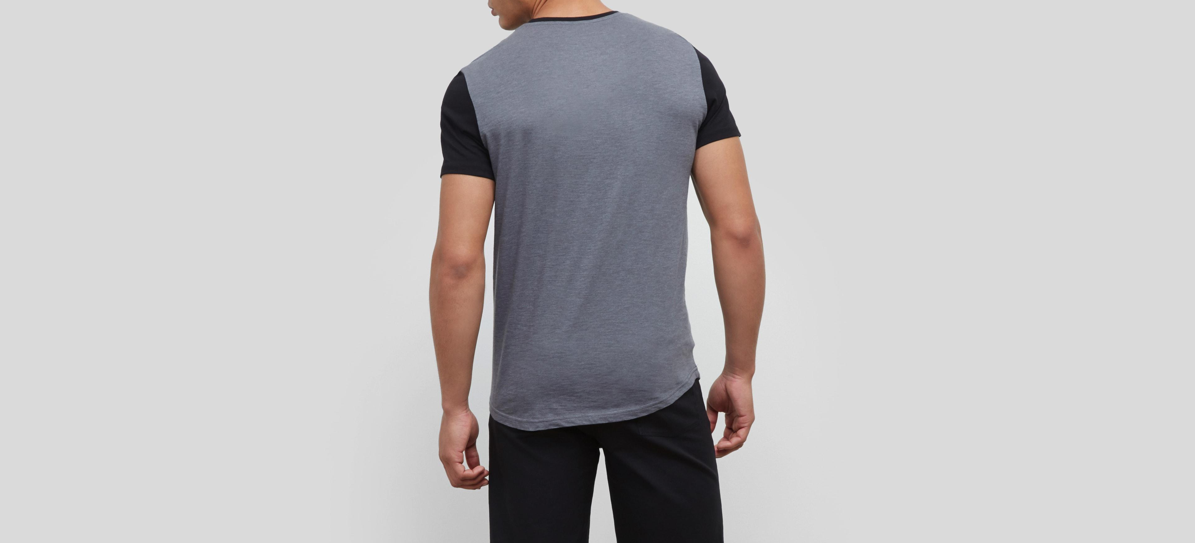 kenneth cole reaction logo crew tshirt in gray for men lyst