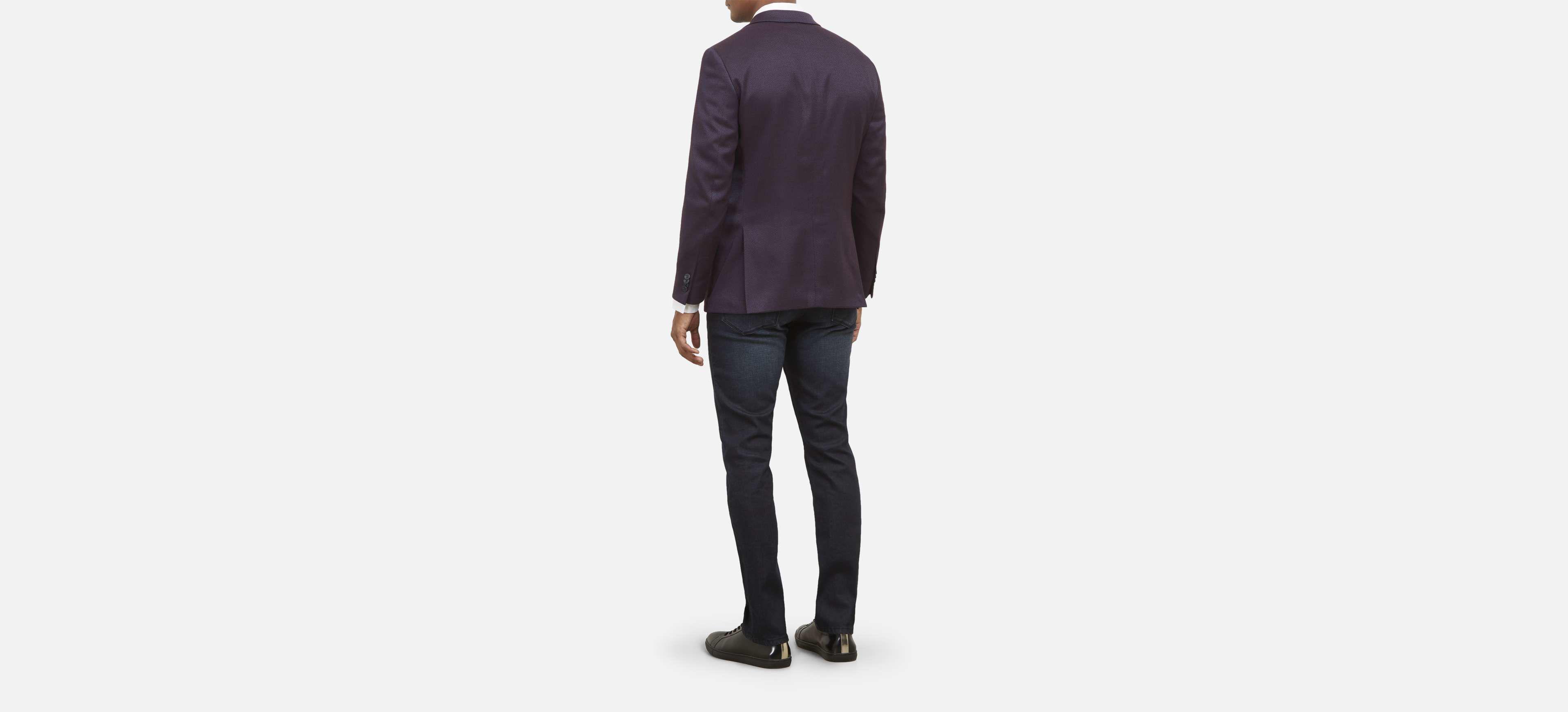 Kenneth Cole REACTION Men Classic Peacoat Bib Jacket Charcoal Blue