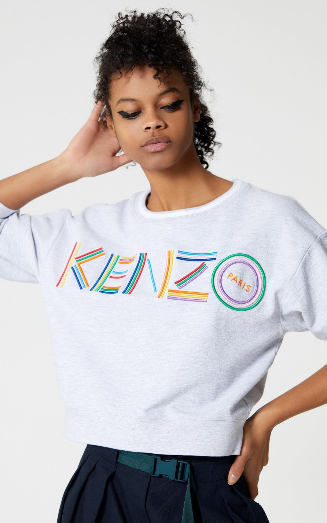 ec36b7d2e6 KENZO Gray 'high Summer Capsule Collection' Logo Sweatshirt