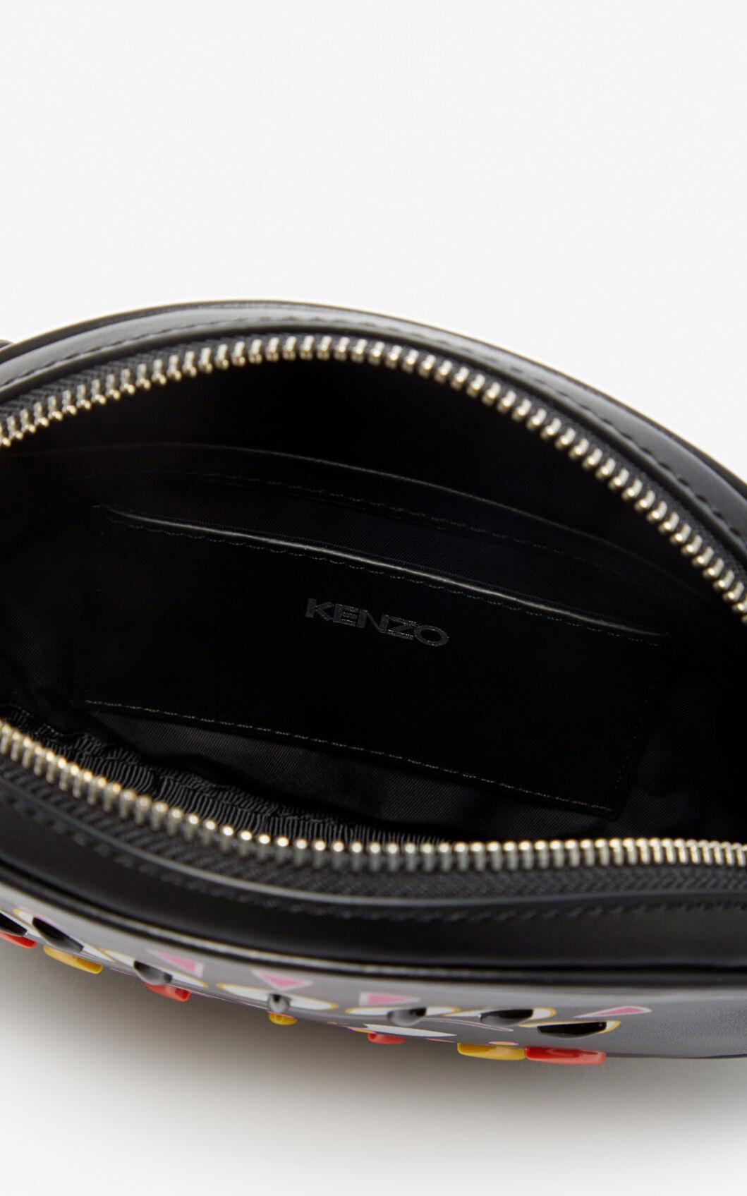 Sac-ceinture Kontact Eye Cuir KENZO en coloris Noir