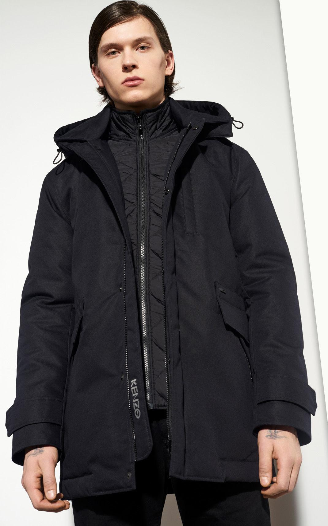 KENZO Canvas Scooter Parka in Black for Men