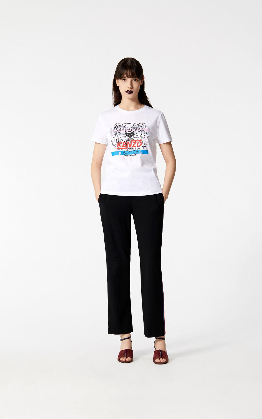 4cd5c2d03f KENZO Cotton 'hyper Tiger' T-shirt in White - Lyst