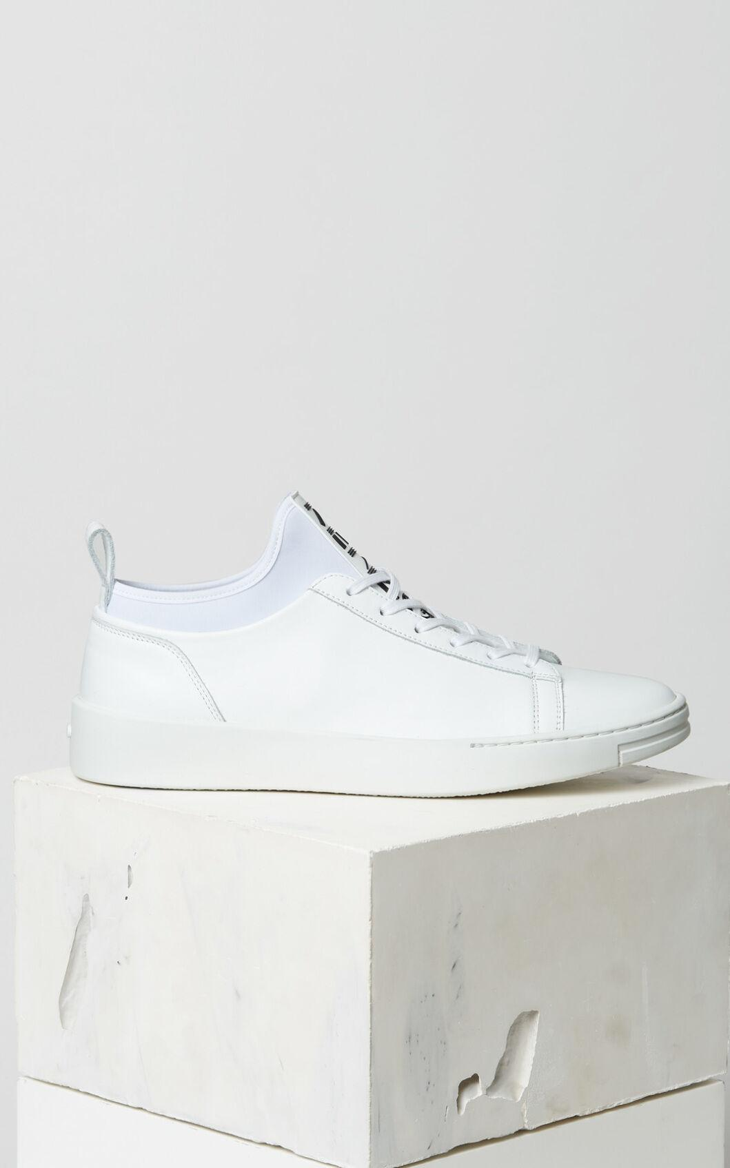 KENZO Leather K-city Sneakers in White