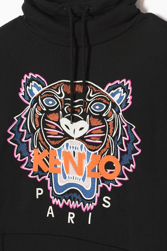 'Tiger' sweatshirt dress Coton KENZO en coloris Noir