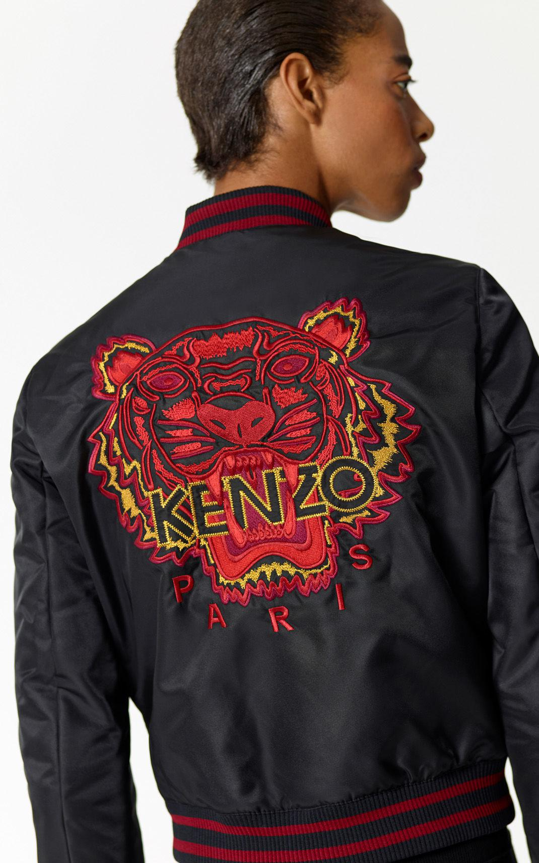 6994c6270 KENZO 'chinese Ny Capsule Collection' Tiger Bomber Jacket in Black ...