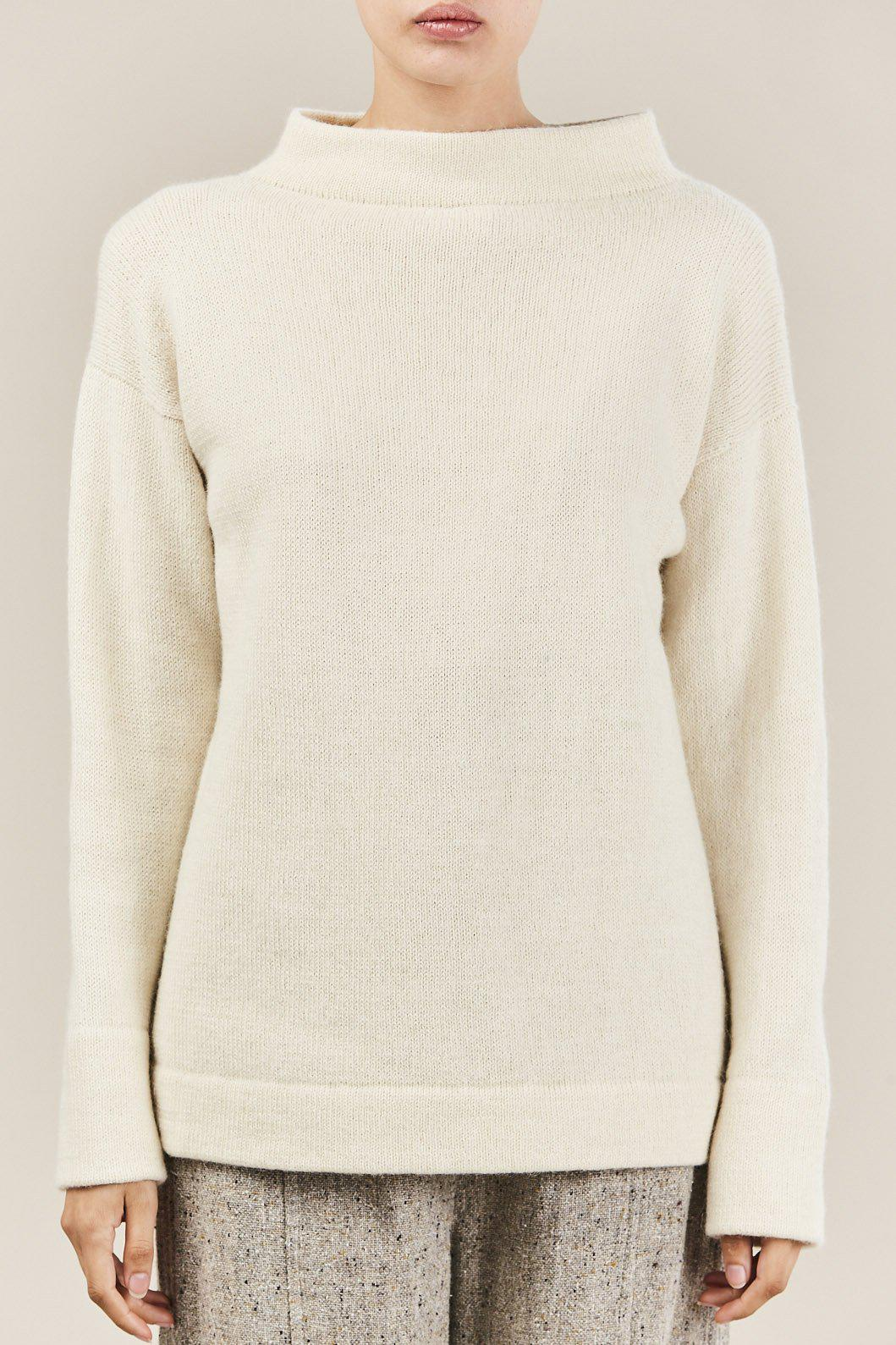 19b76ec9a69 Lauren Manoogian Mock Pullover Sweater in Natural - Lyst