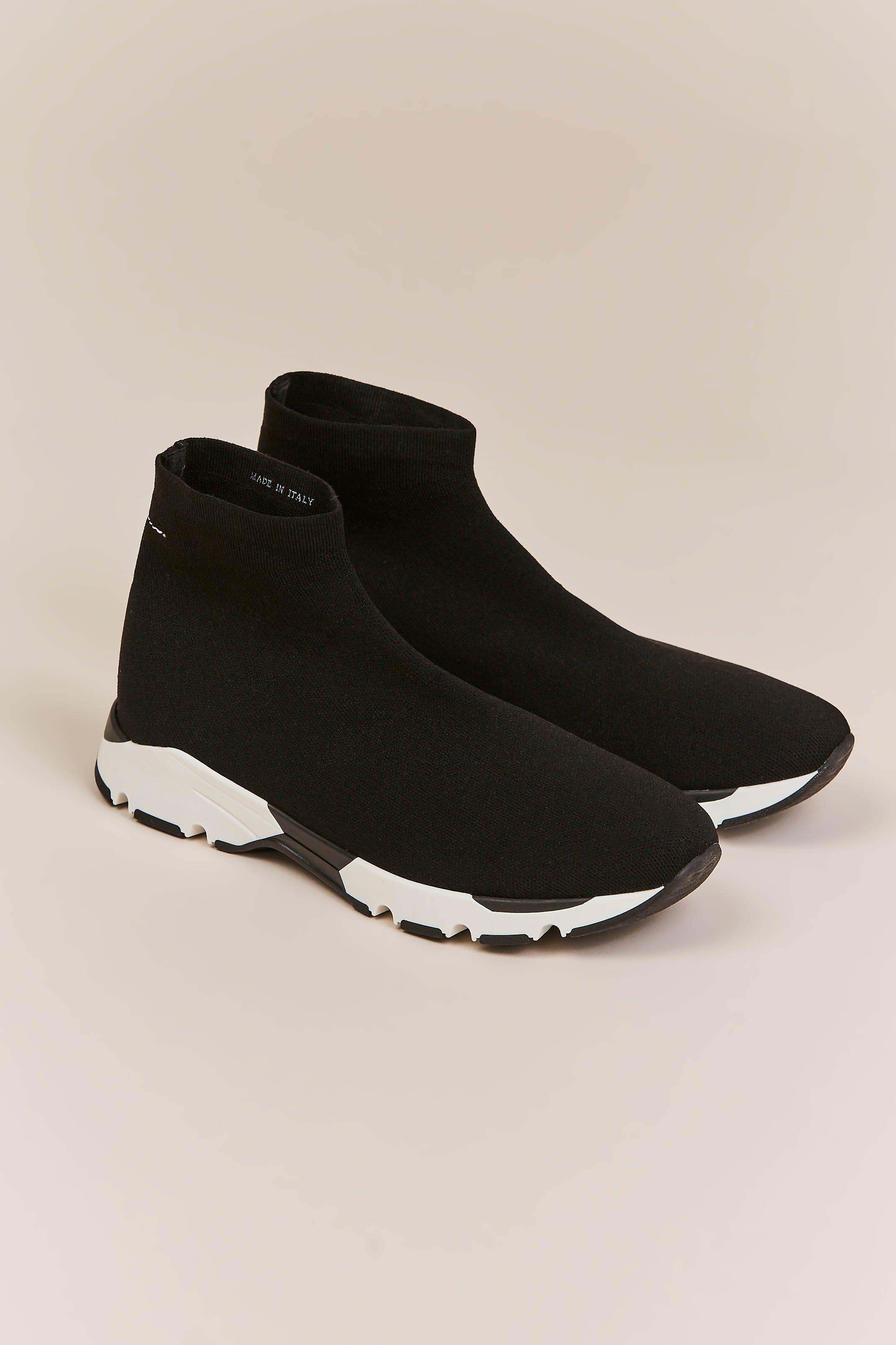 Lyst Mm6 By Maison Martin Margiela Sock Tennis Shoe In Black