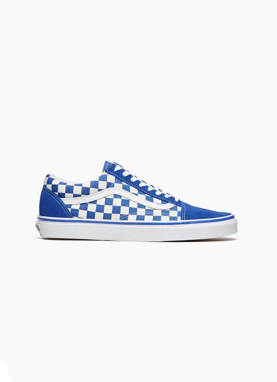 8c378819c0673 Lyst - Vans Vans Old Skool Blue  White Checkerboard in Blue for Men