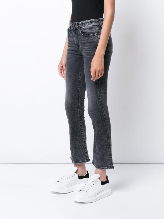 R13 Denim Kick Fit Crop Jeans in Blue