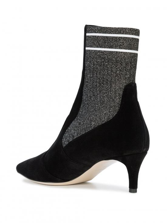 Fendi Suede Sock Ankle Boots in Black
