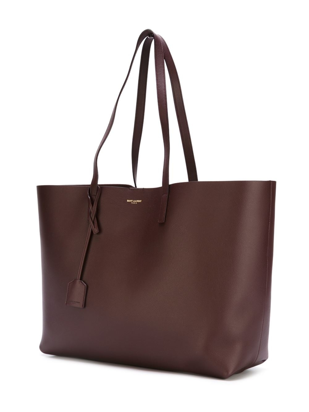 saint laurent classic shopper tote in brown lyst. Black Bedroom Furniture Sets. Home Design Ideas