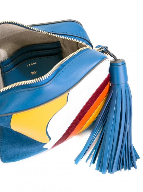Anya Hindmarch Suede Silver Cloud Cross-body Bag in Blue