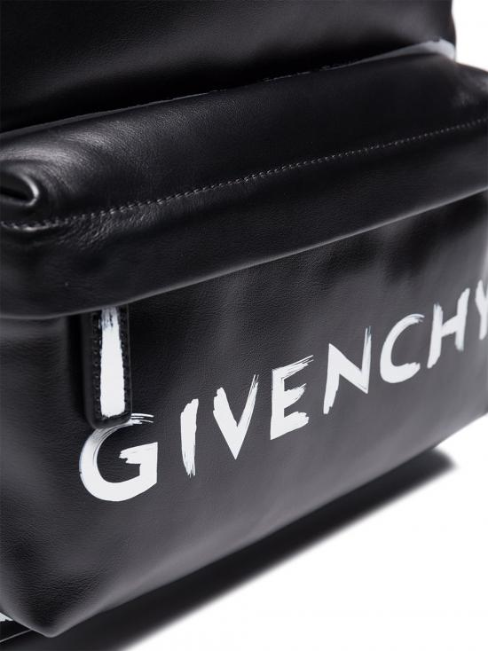 Givenchy Leather Graffiti Logo Backpack in Black