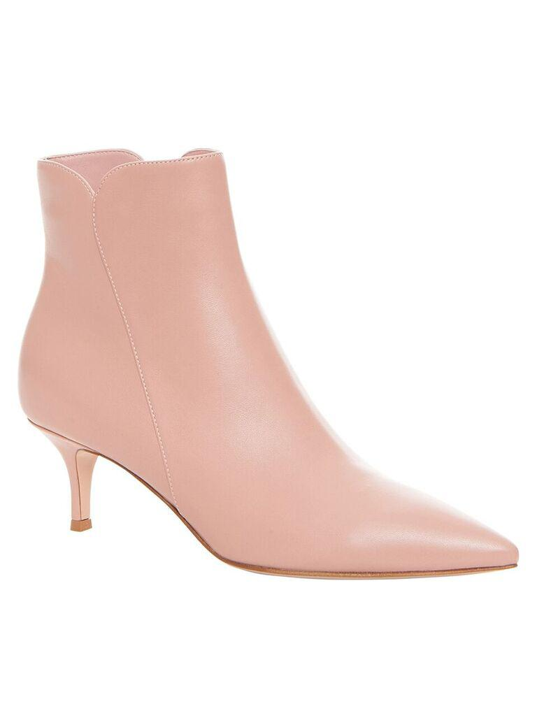 Gianvito Rossi Levy 55 Leather Ankle Boots in Pink