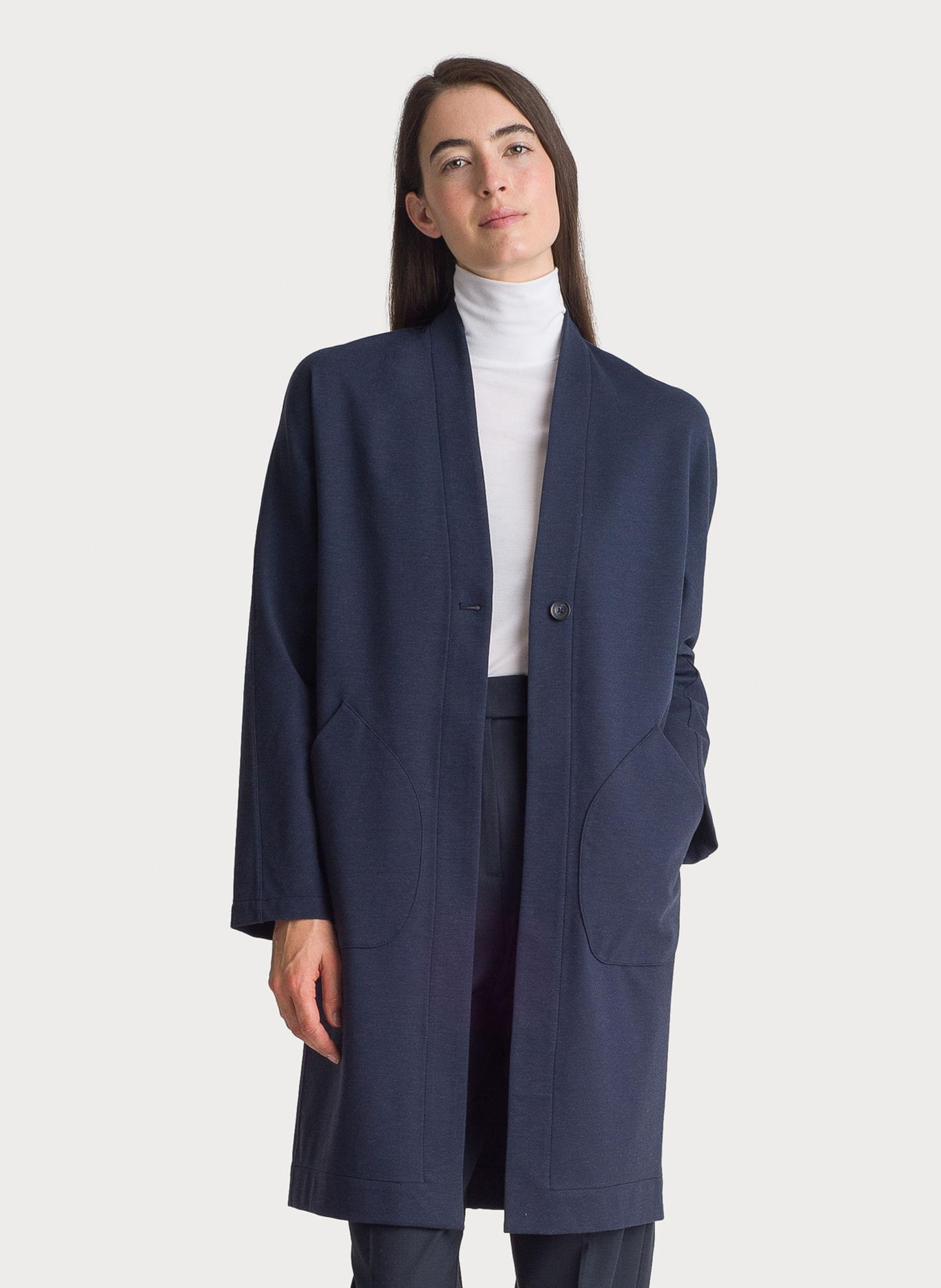 7fb476f18460 Kit And Ace Long Stretch Jacket in Blue - Lyst