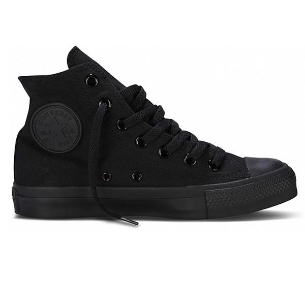 646ded3a5d18 Converse Chuck Taylor High Top - Monochrome Black Sneaker in Black ...