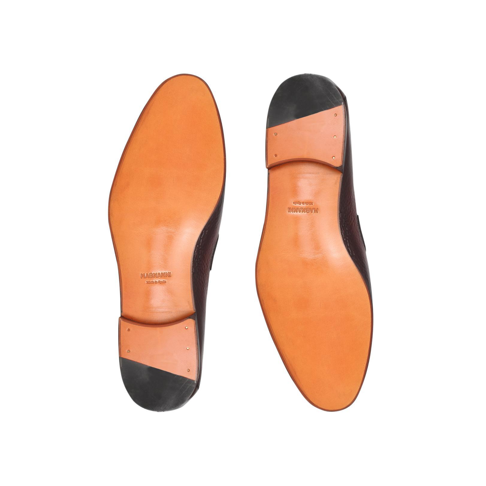 Magnanni Leather Plait Trim Loafer in Tan (Brown) for Men