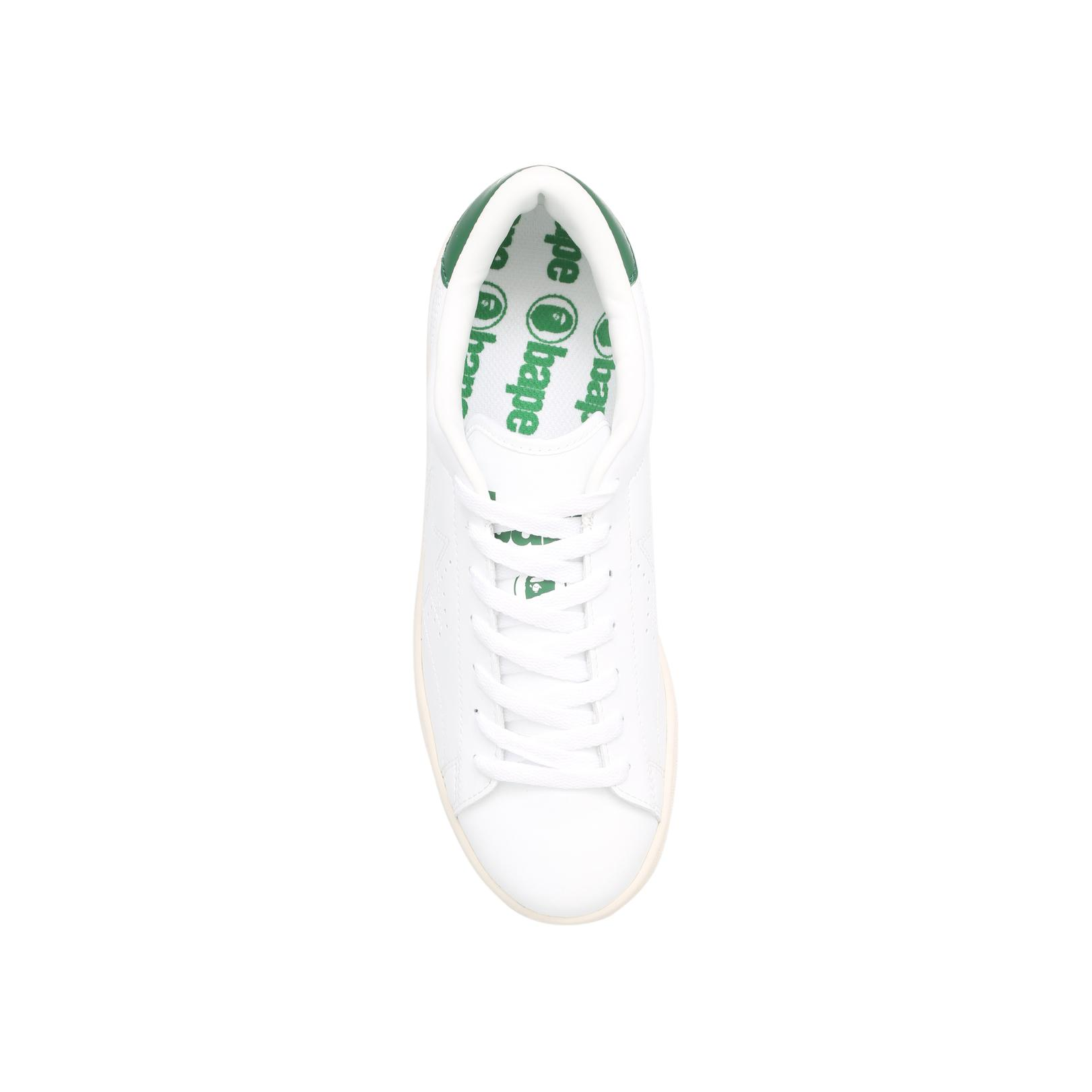 A Bathing Ape Leather Morning Sta M in White for Men