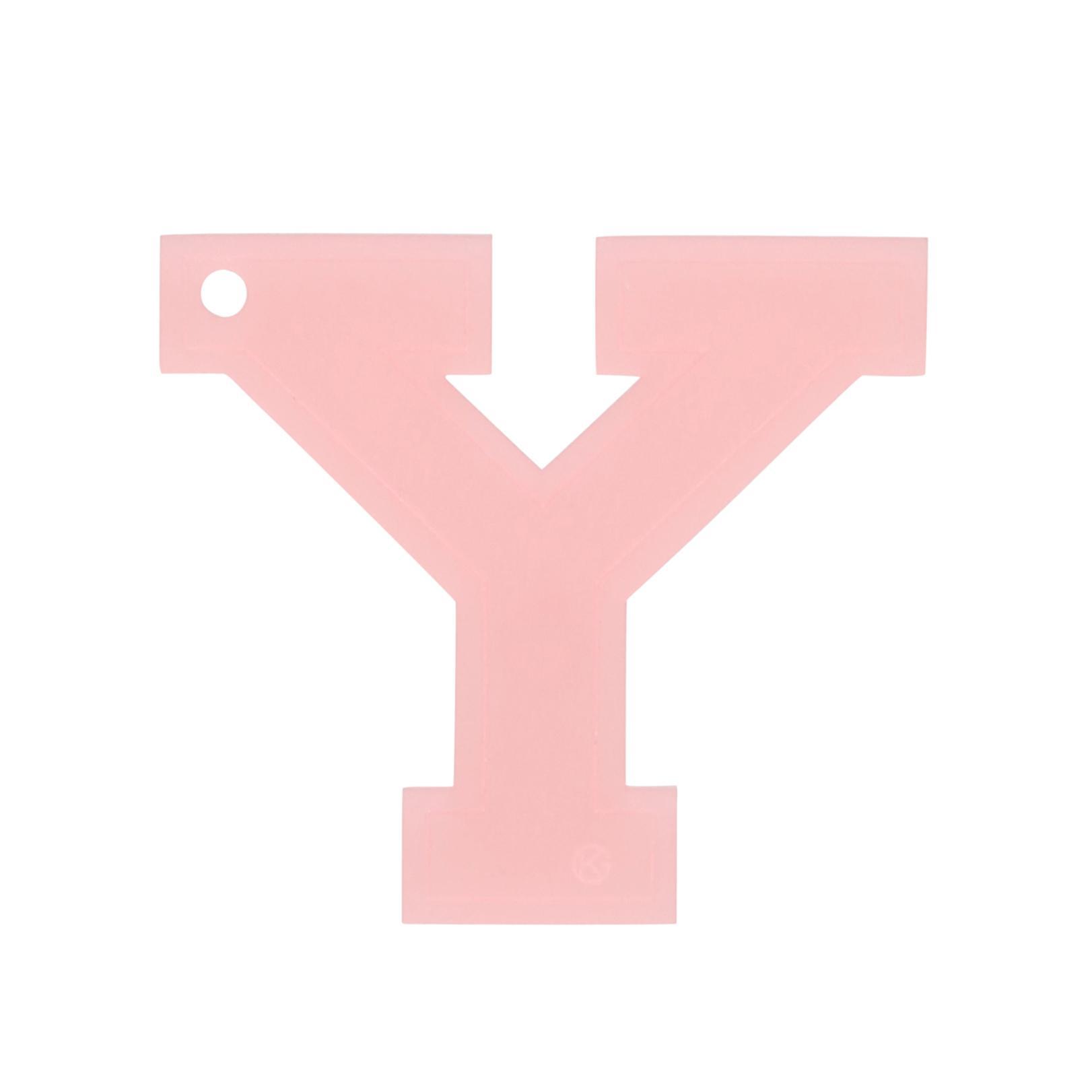 Kurt Geiger Letter Y Charm In Pink