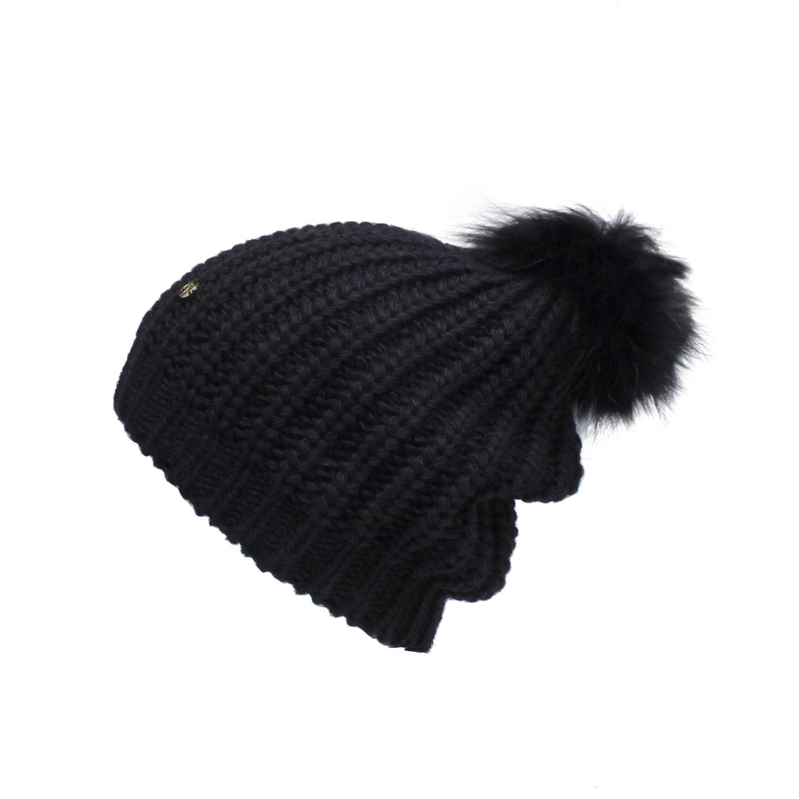 bcd4612ed Kurt Geiger Fur Pom Pom Hat In Black