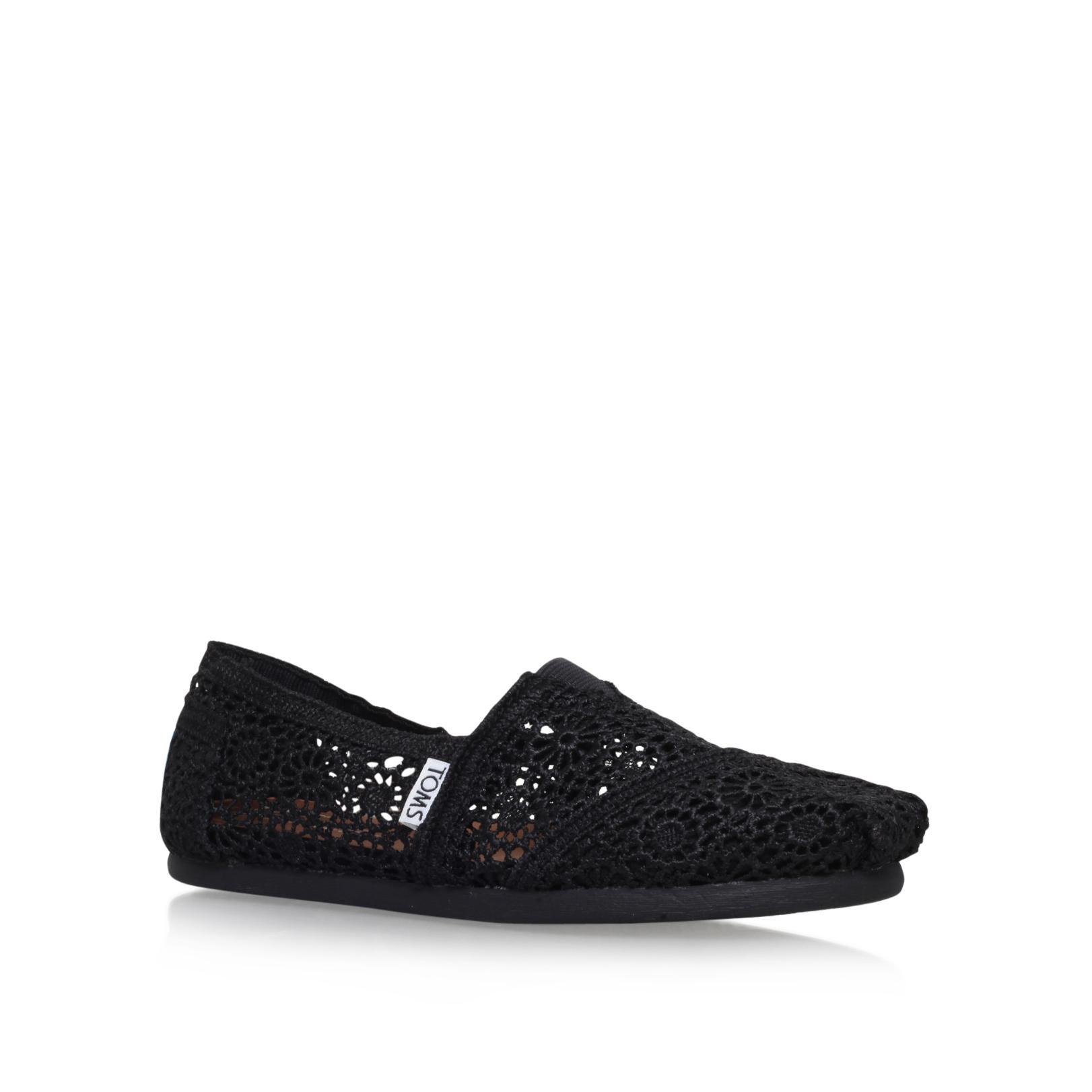 Toms Black Crochet Shoes