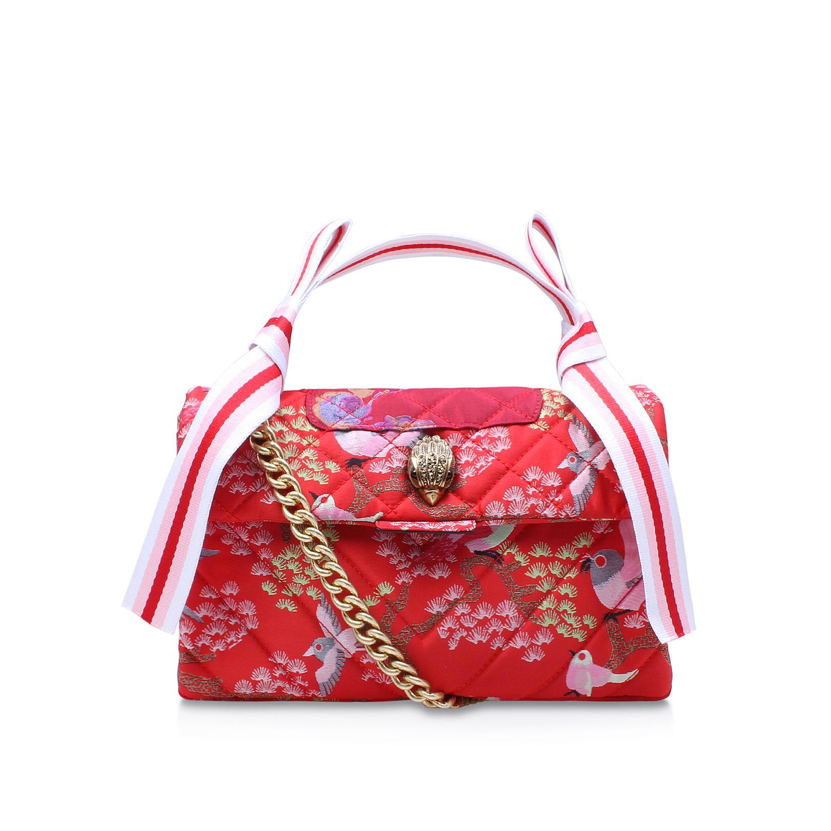 Kurt Geiger Fabric Kensington Bag In Red Lyst