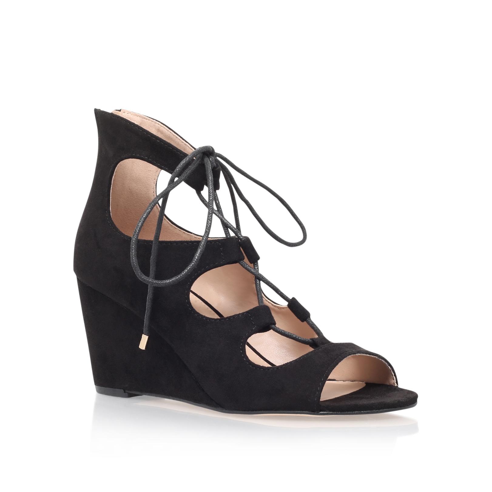 Kurt Geiger Sophia Black Suedette Shoes