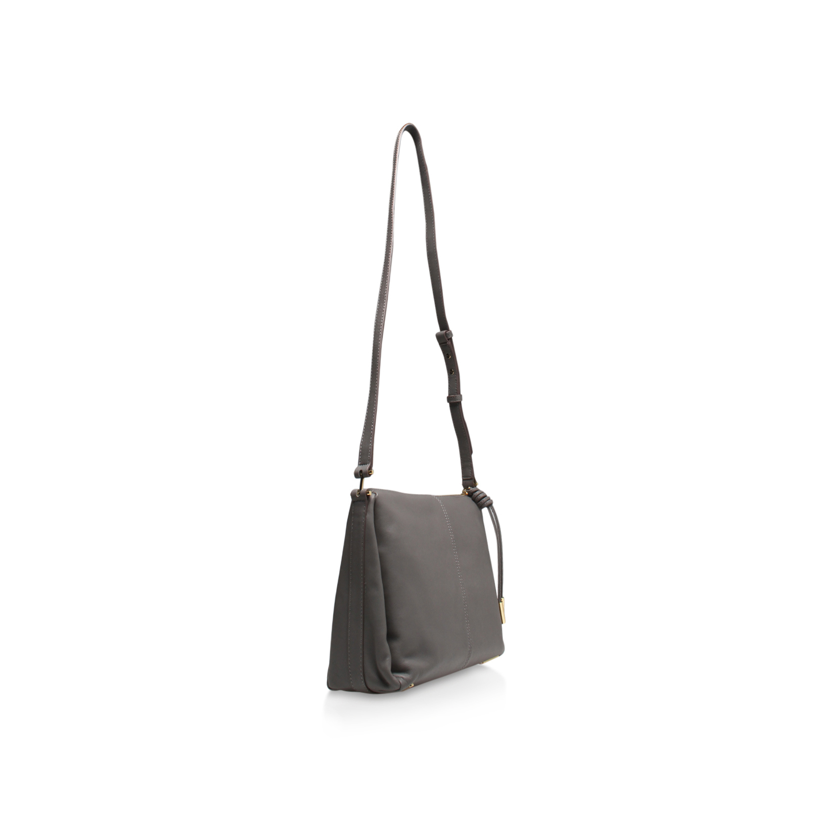 Vince Camuto Leather Josie Crossbody in Grey (Grey)