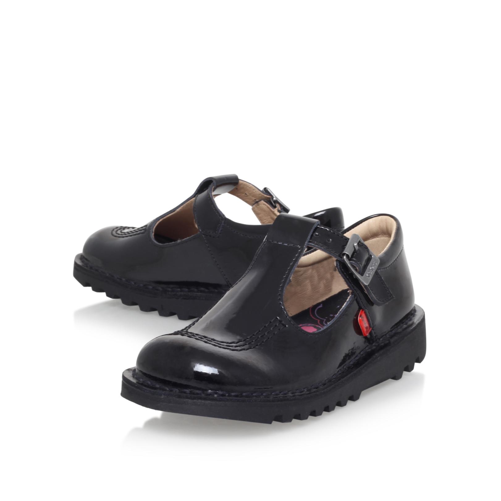 Black Patent Leather Uniform Shoes
