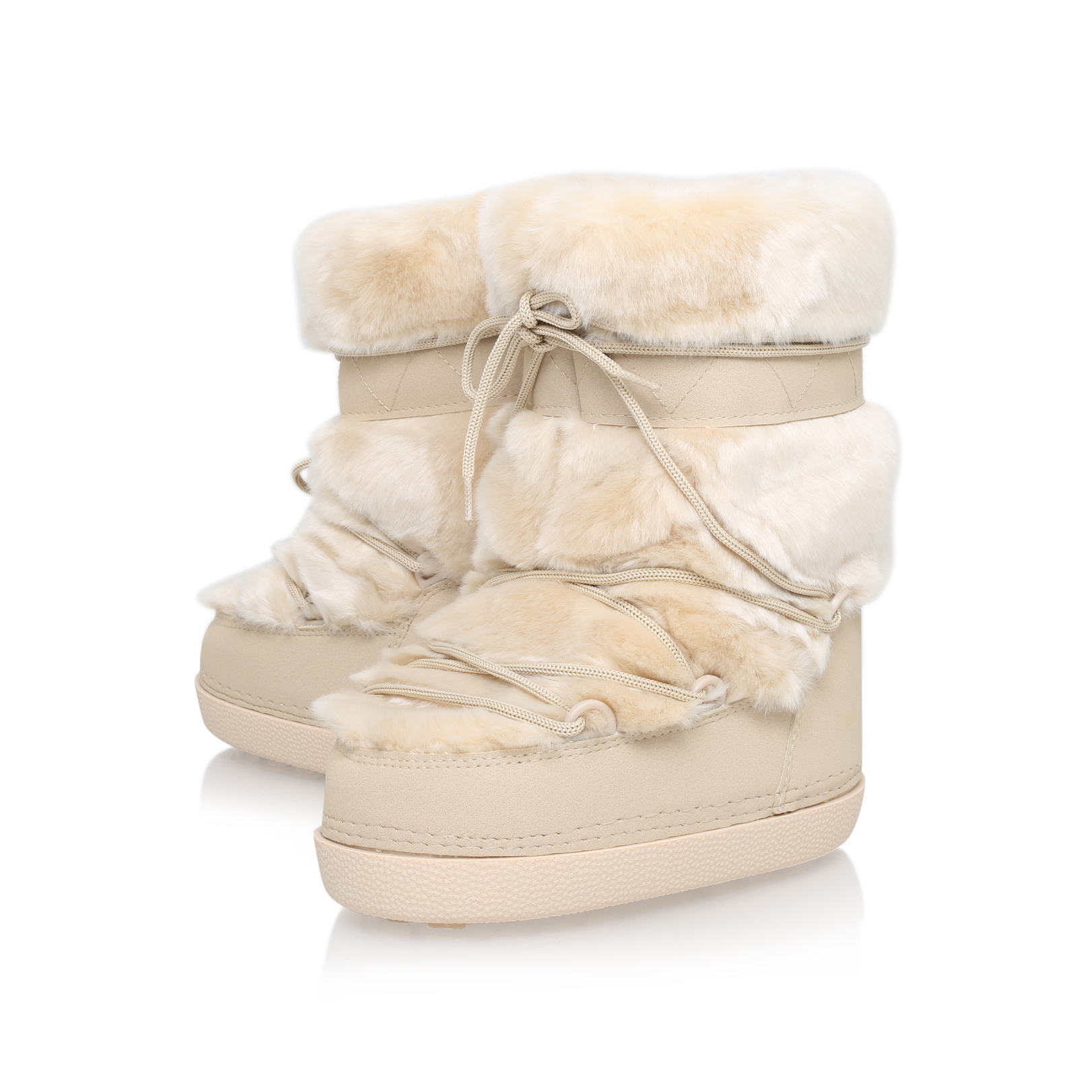 Chloé Faux Fur Snow Boot in Beige (Natural)