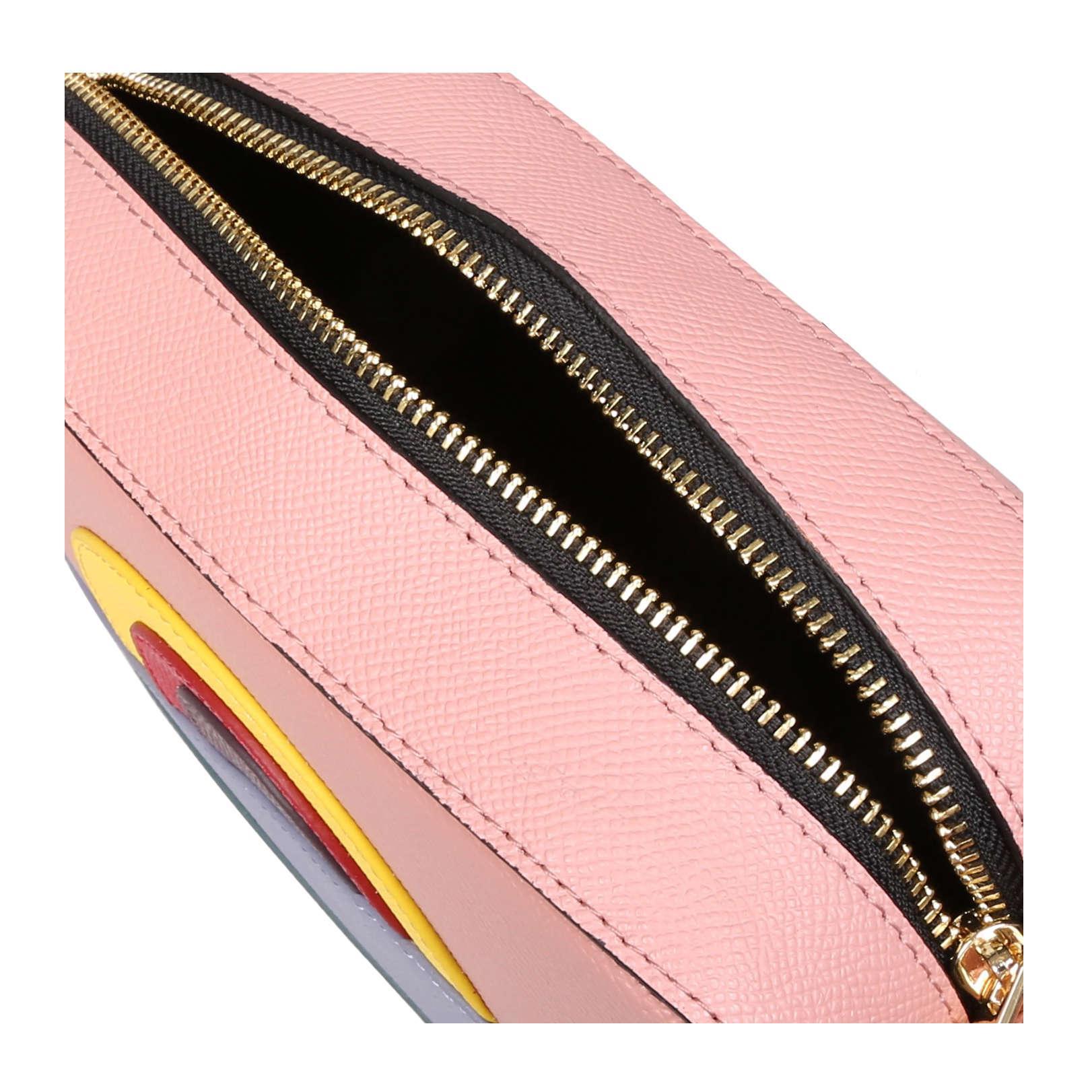 Kurt Geiger Leather Richmond Cross Body In Pink Combination