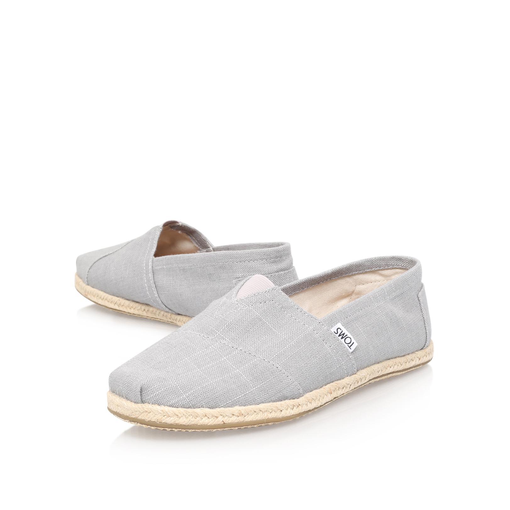 TOMS Alpargata Linen Esp in Grey (Grey) for Men