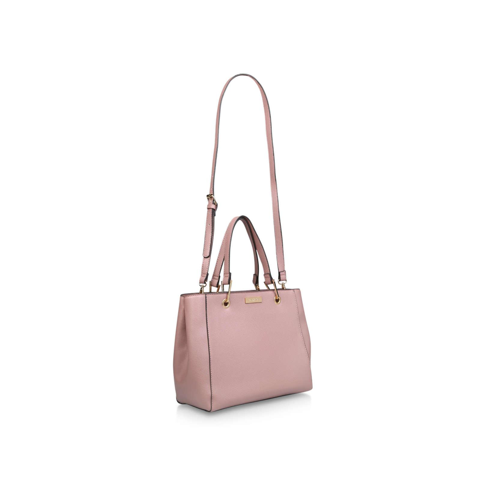Carvela Kurt Geiger Synthetic Reign Zip Structured Tote In Pink