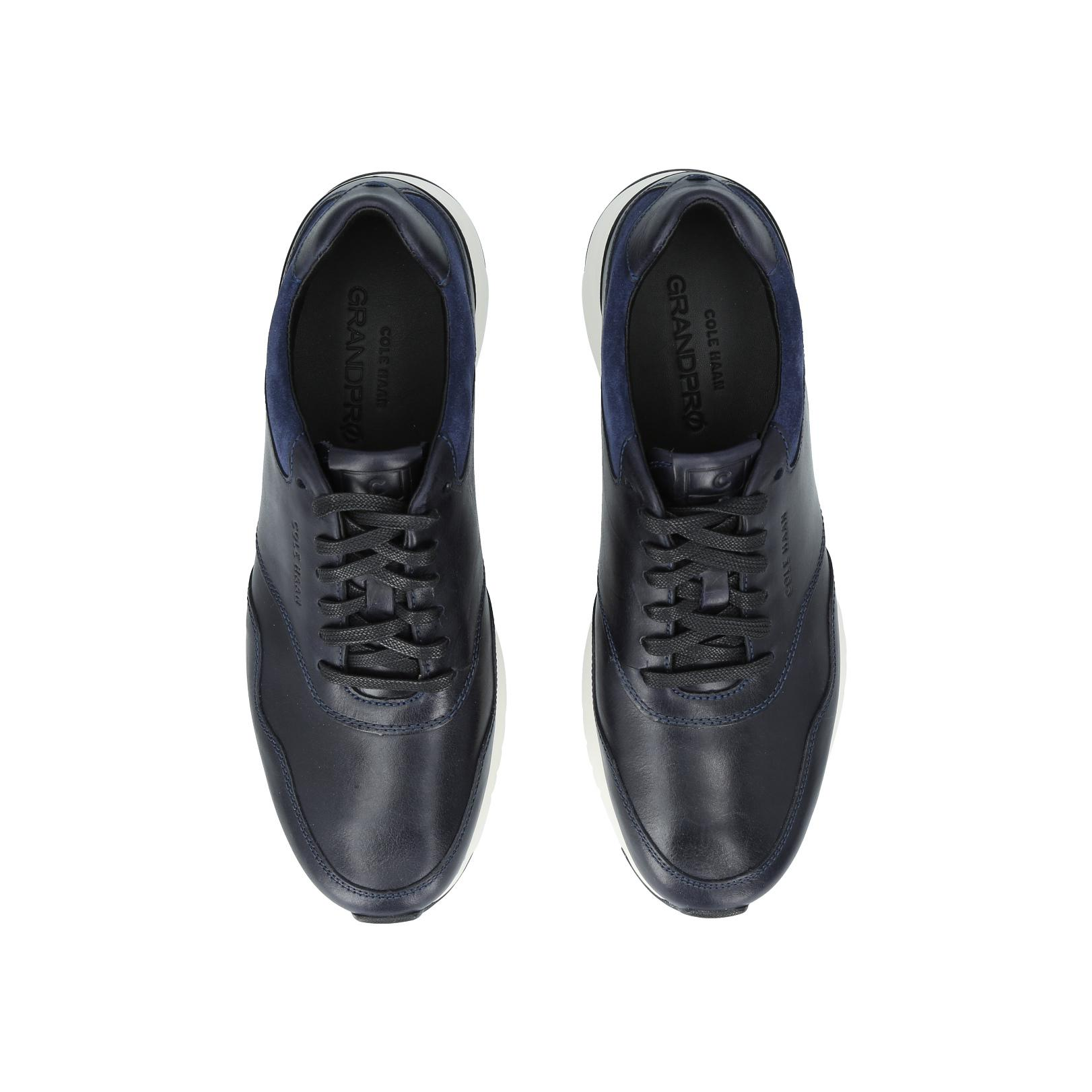 Cole Haan Leather Grandpro Runner In Navy in Blue for Men