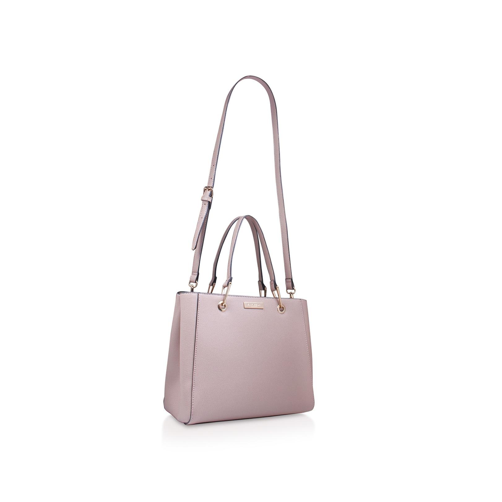 Carvela Kurt Geiger Synthetic Reign Zip Structured Tote Nude