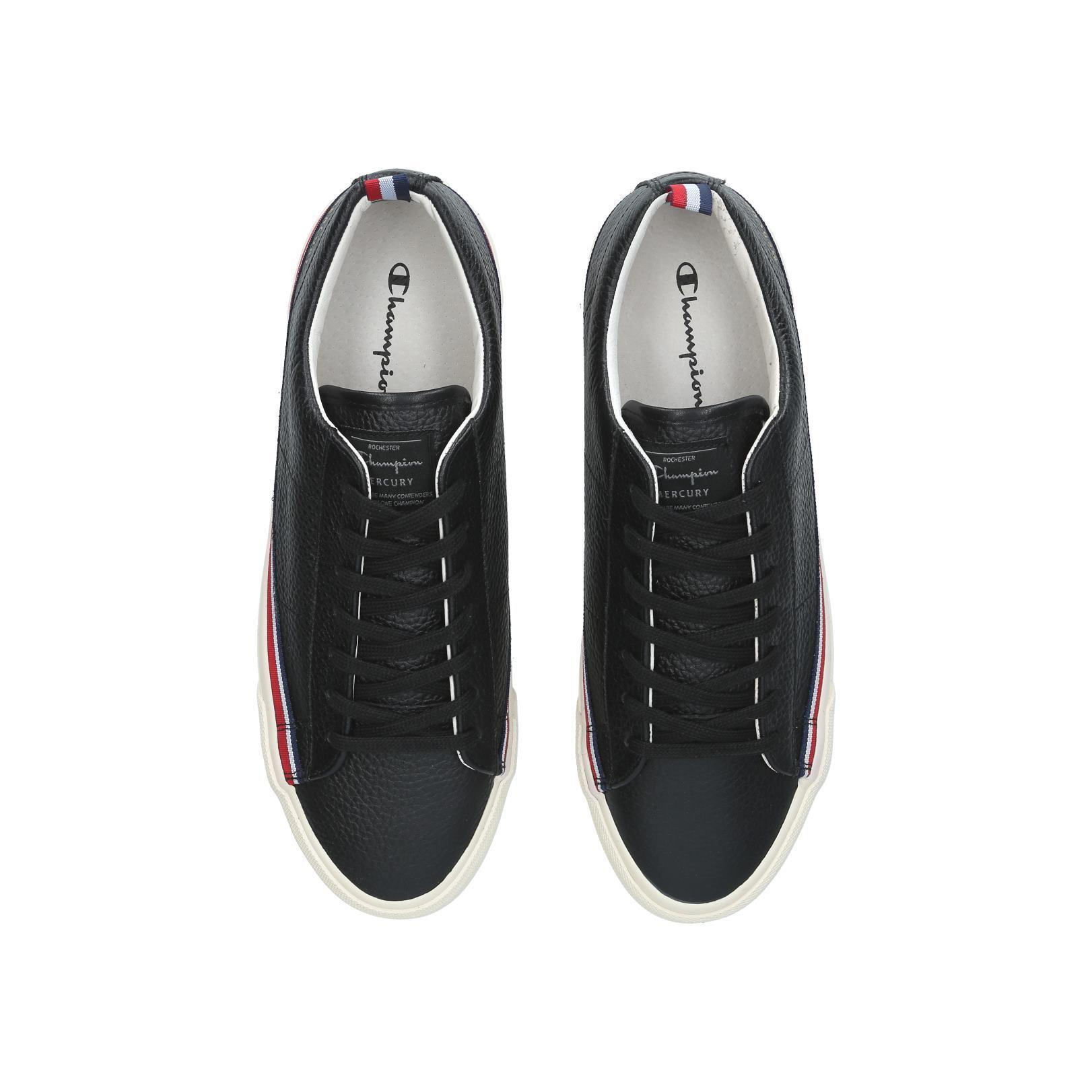 Champion Mercury Low Leather in Black for Men